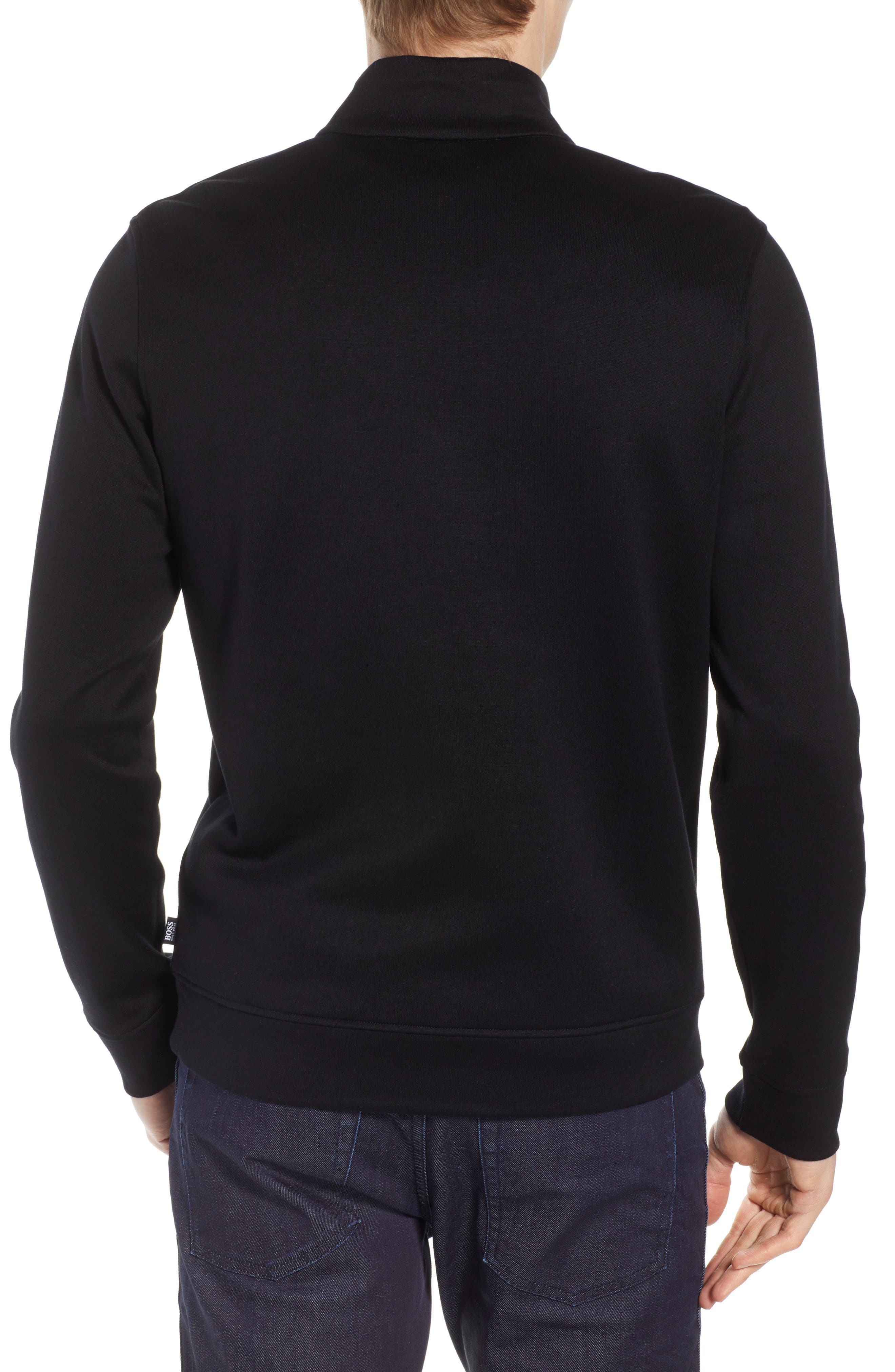 Sidney Regular Fit Quarter Zip Pullover,                             Alternate thumbnail 2, color,                             BLACK
