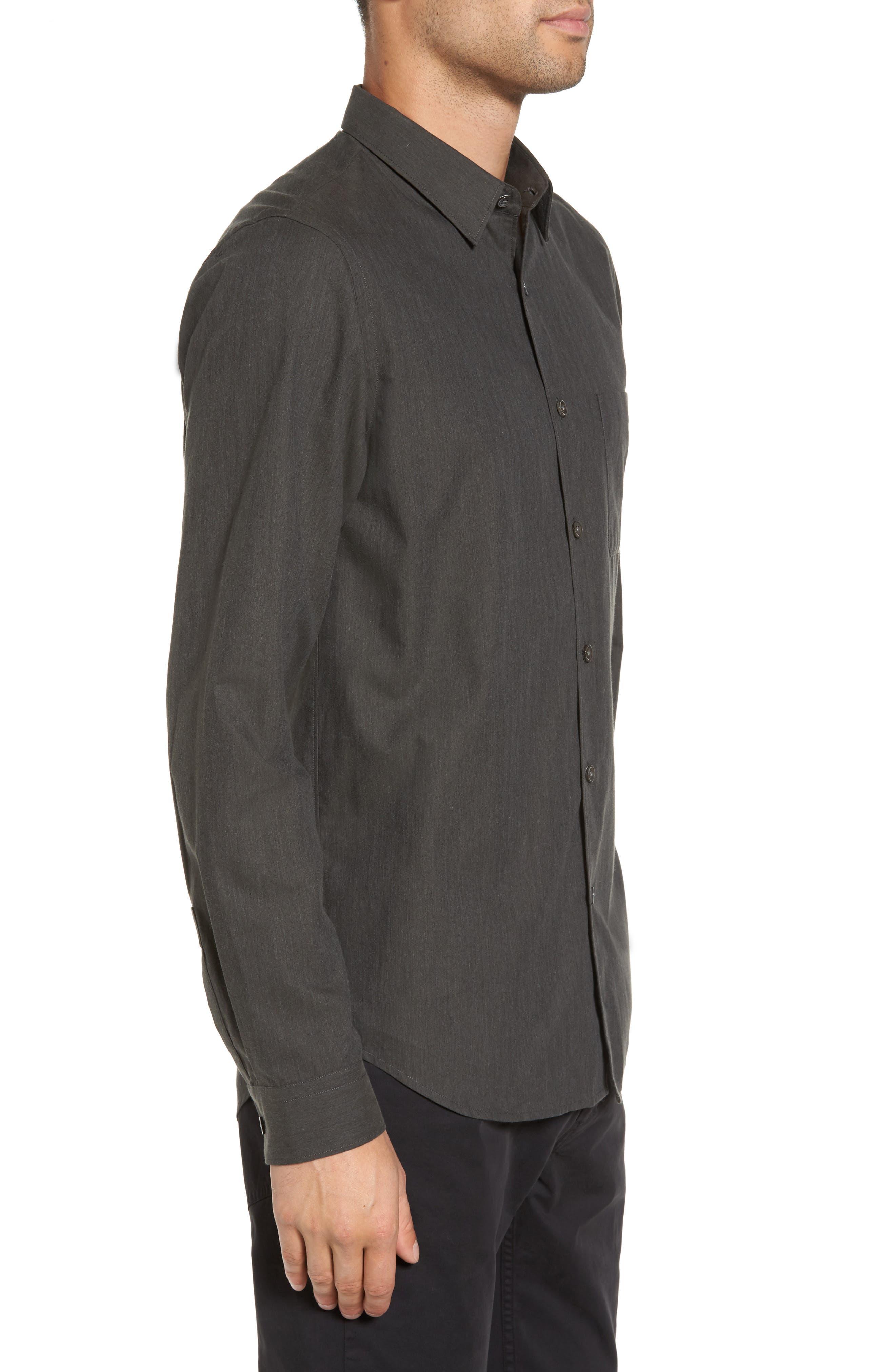 Rammy Trim Fit Solid Sport Shirt,                             Alternate thumbnail 3, color,                             381