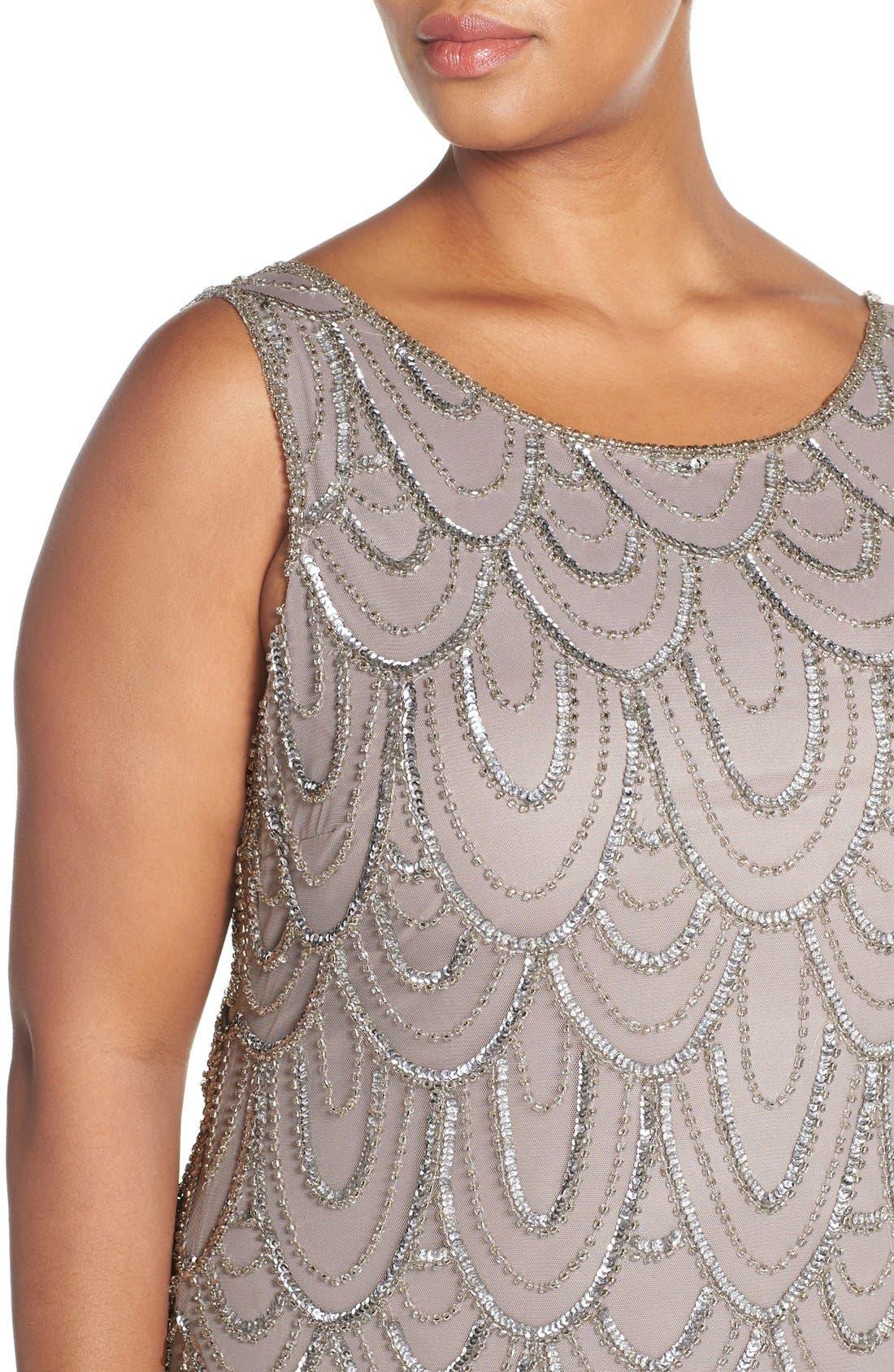 Beaded Sheath Dress,                             Alternate thumbnail 41, color,