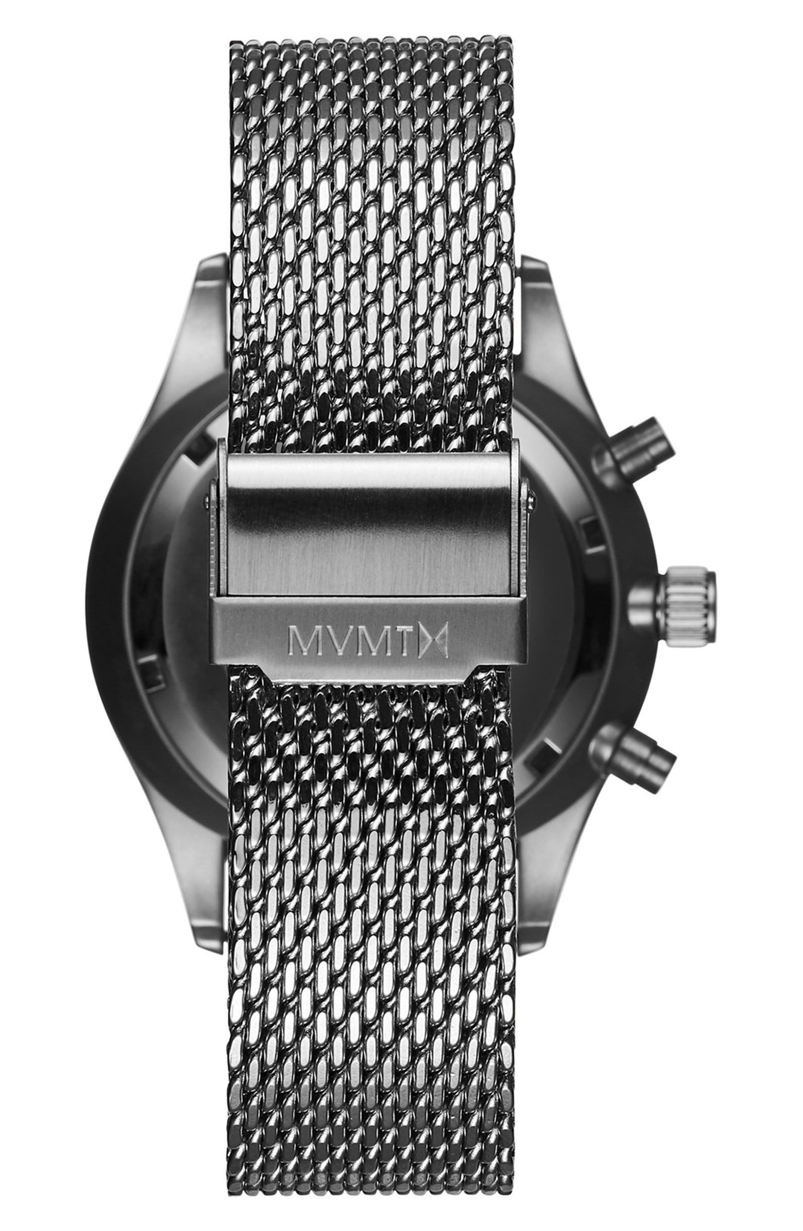 Voyager Chronograph Mesh Strap Watch, 42mm,                             Alternate thumbnail 2, color,                             040