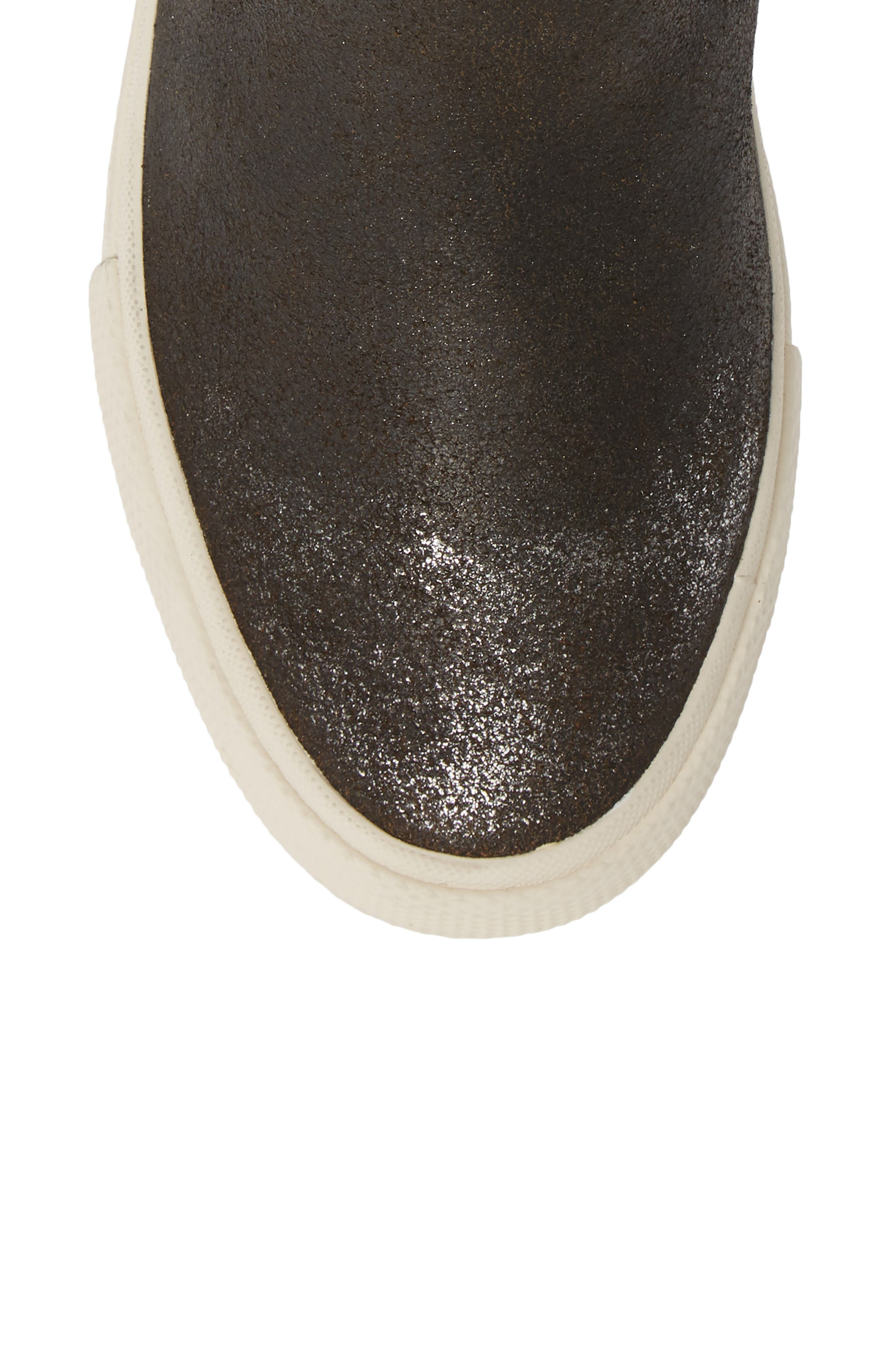 Gia Bootie,                             Alternate thumbnail 5, color,                             ANTHRACITE LEATHER