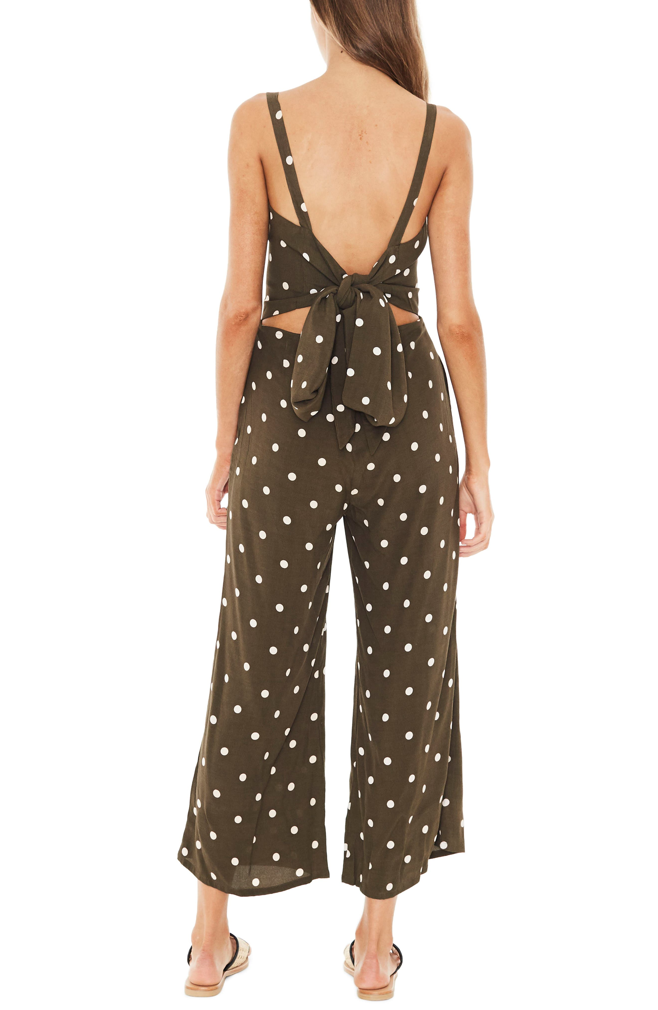 Playa Polka Dot Jumpsuit,                             Alternate thumbnail 2, color,                             200