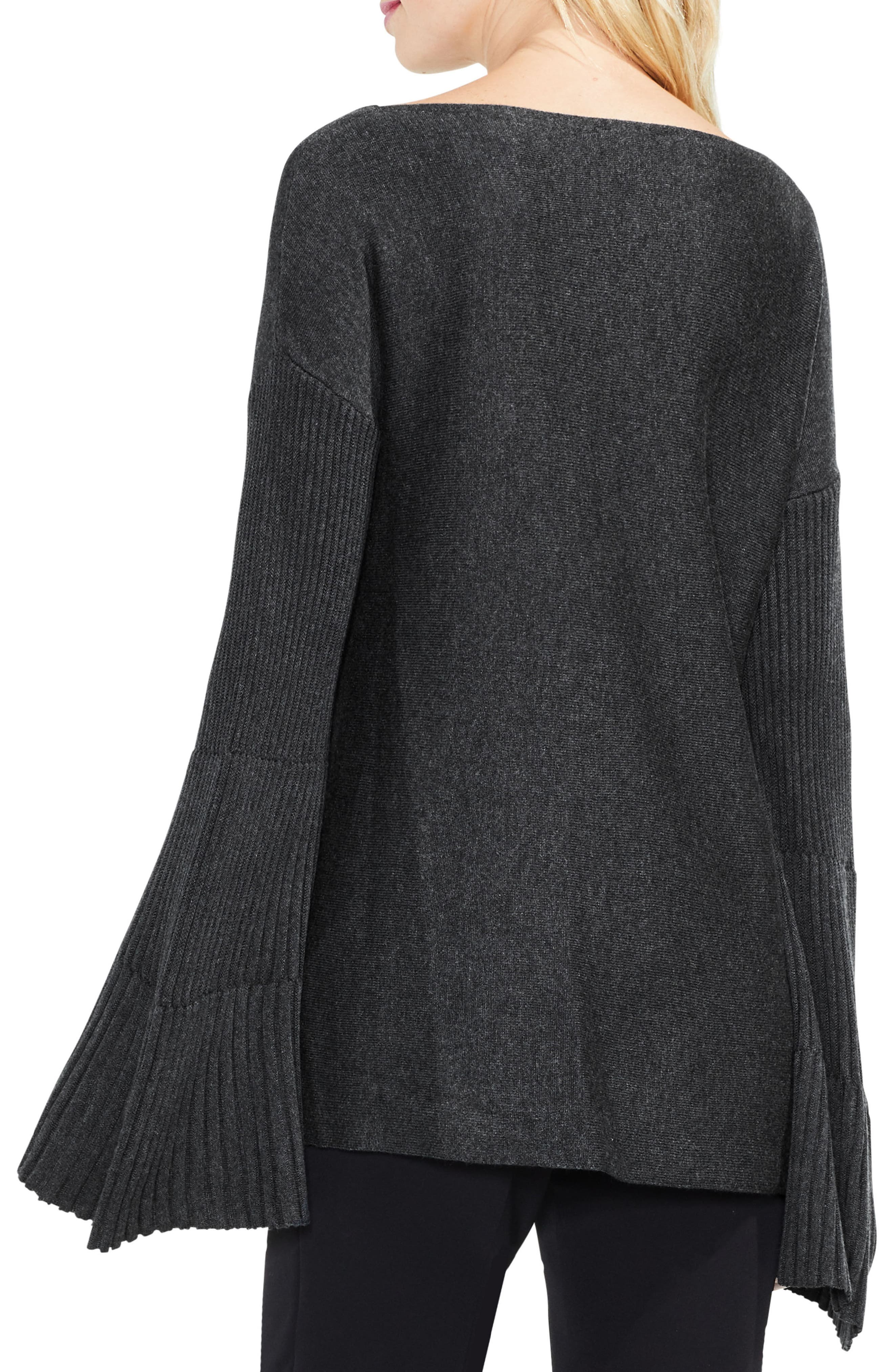 Bell Sleeve Ribbed Sweater,                             Alternate thumbnail 12, color,