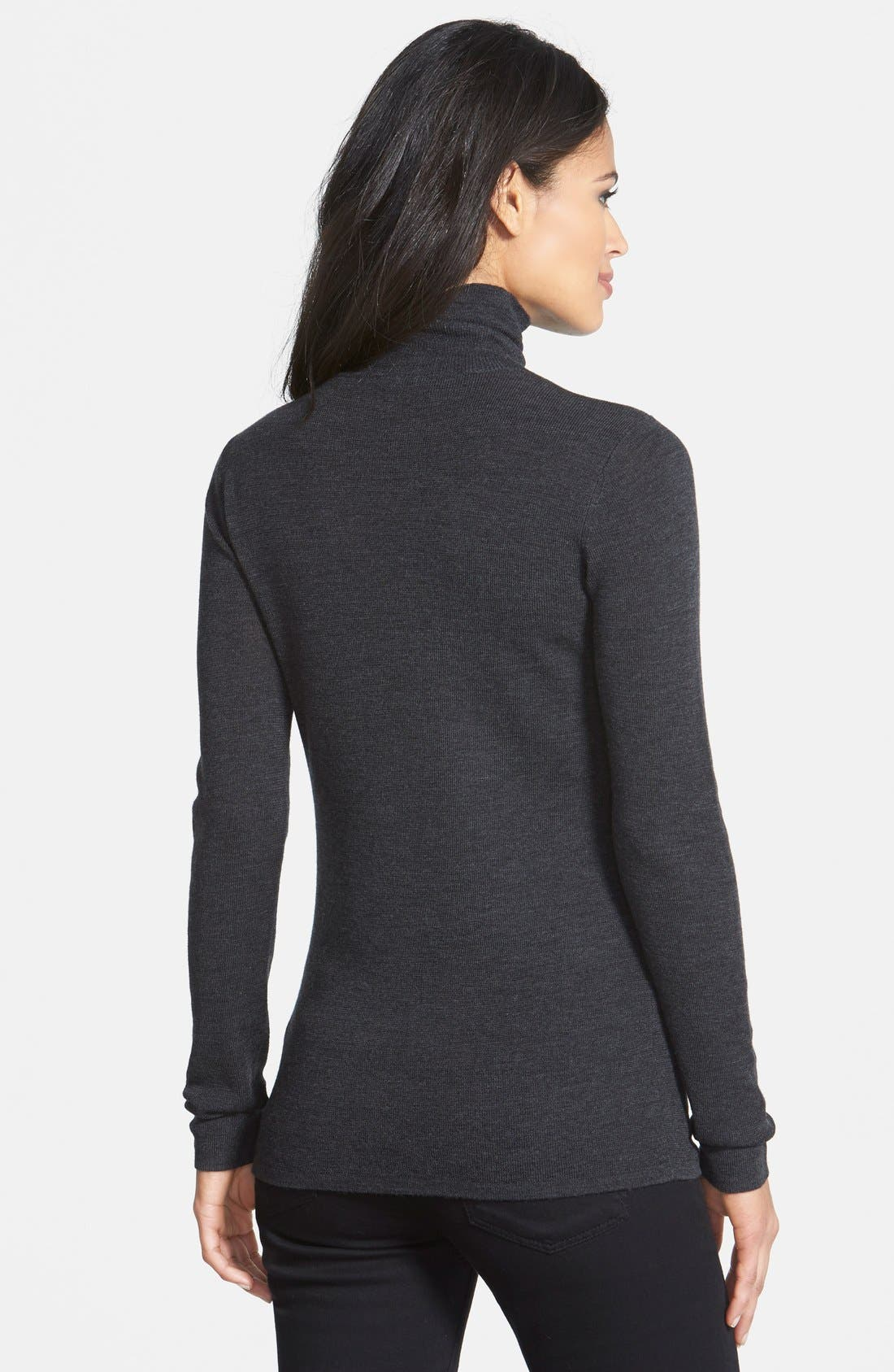 The Fisher Project Ultrafine Merino Turtleneck Sweater,                             Alternate thumbnail 8, color,