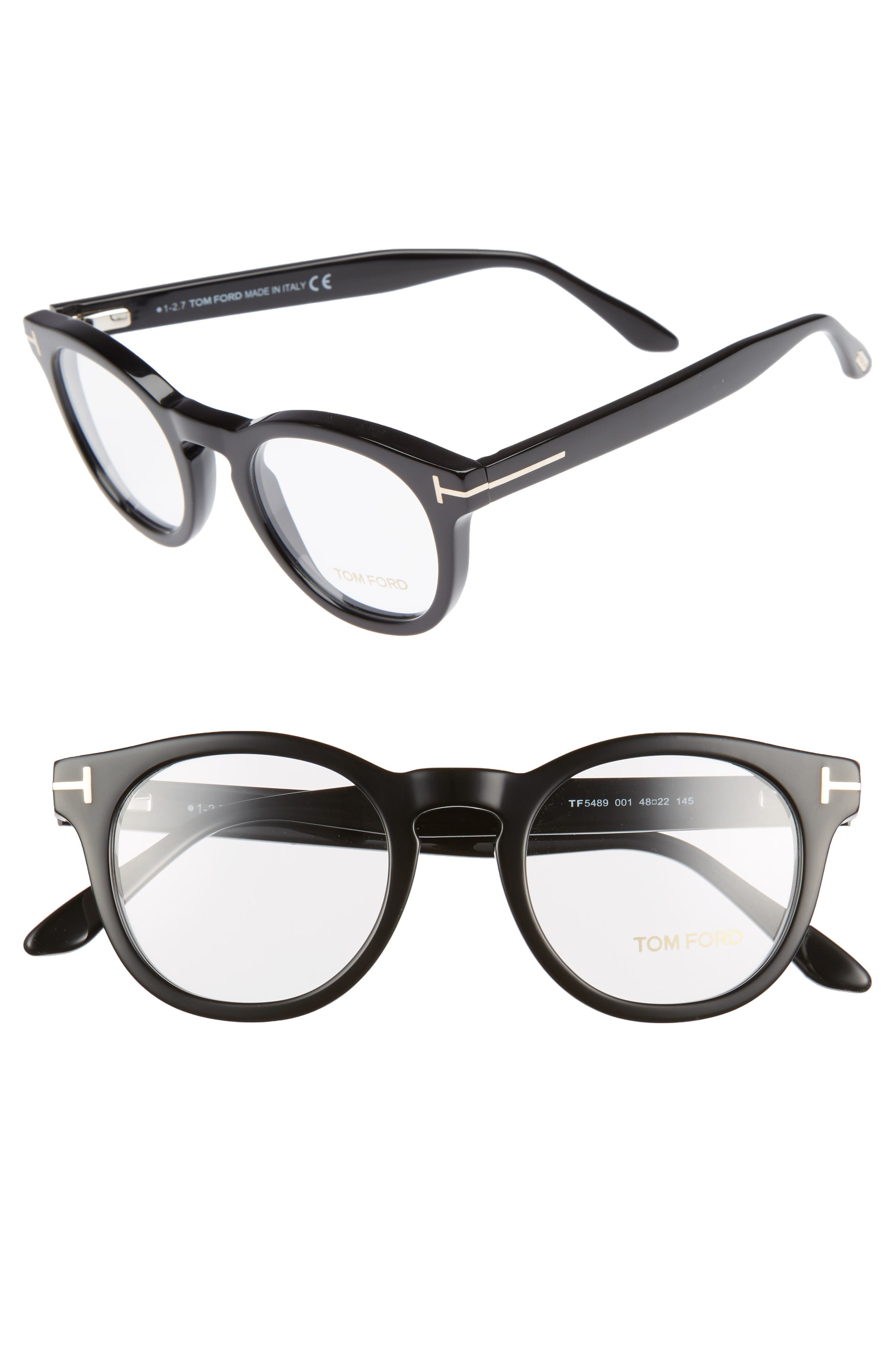 48mm Round Optical Glasses,                             Main thumbnail 1, color,                             001