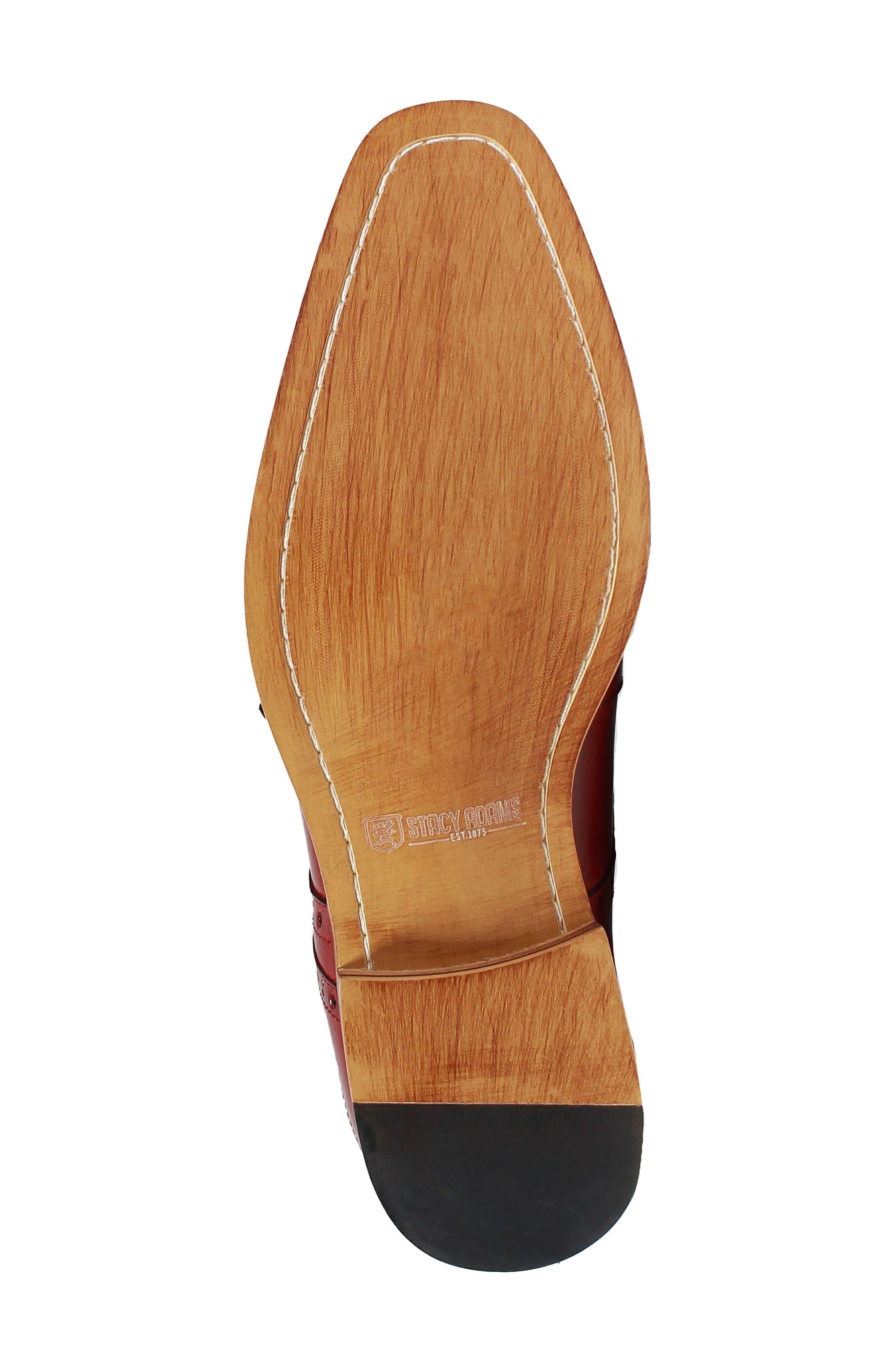Tayton Cap Toe Double Strap Monk Shoe,                             Alternate thumbnail 6, color,                             RED LEATHER