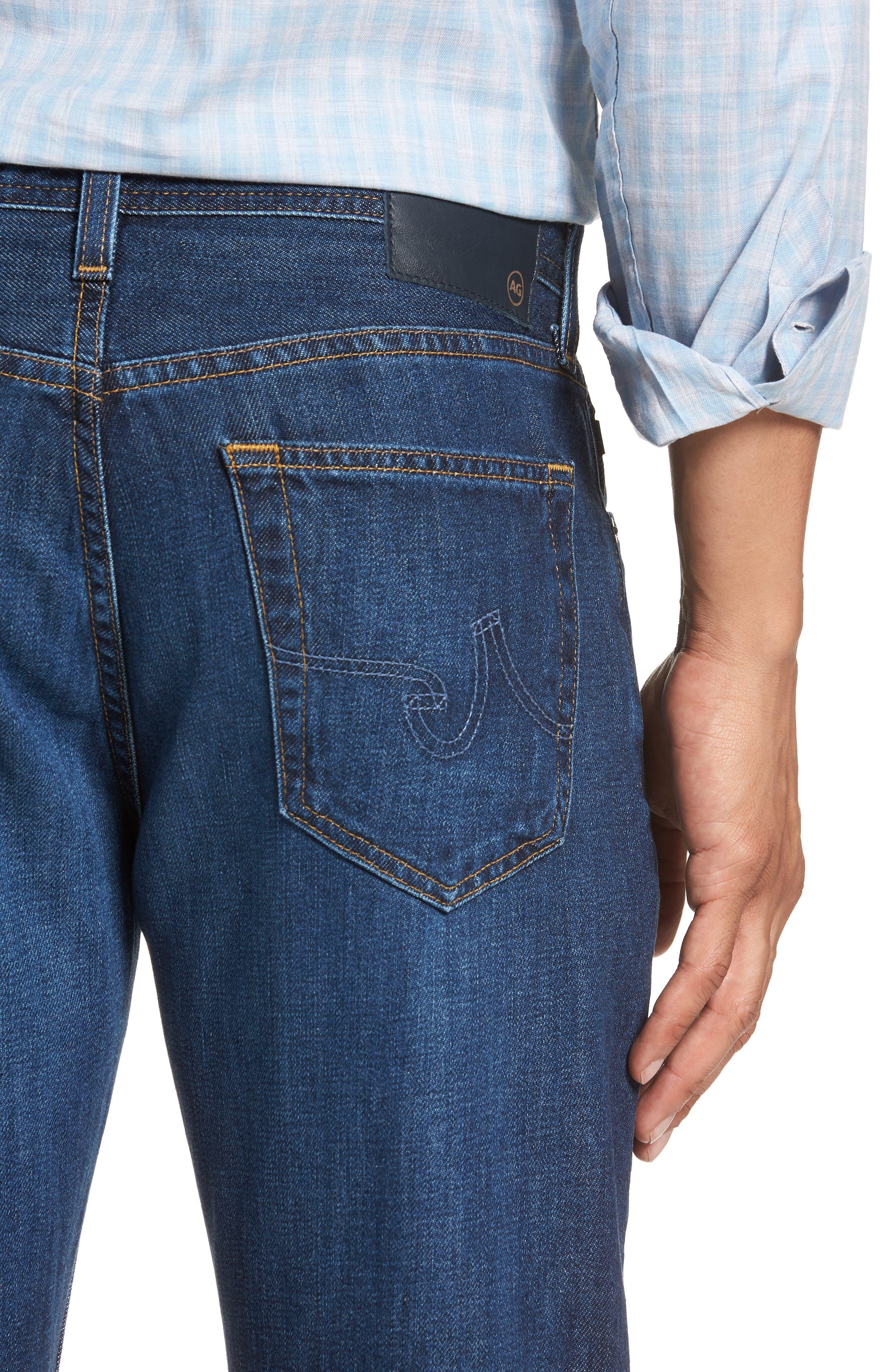 Graduate Slim Straight Leg Jeans,                             Alternate thumbnail 4, color,                             477