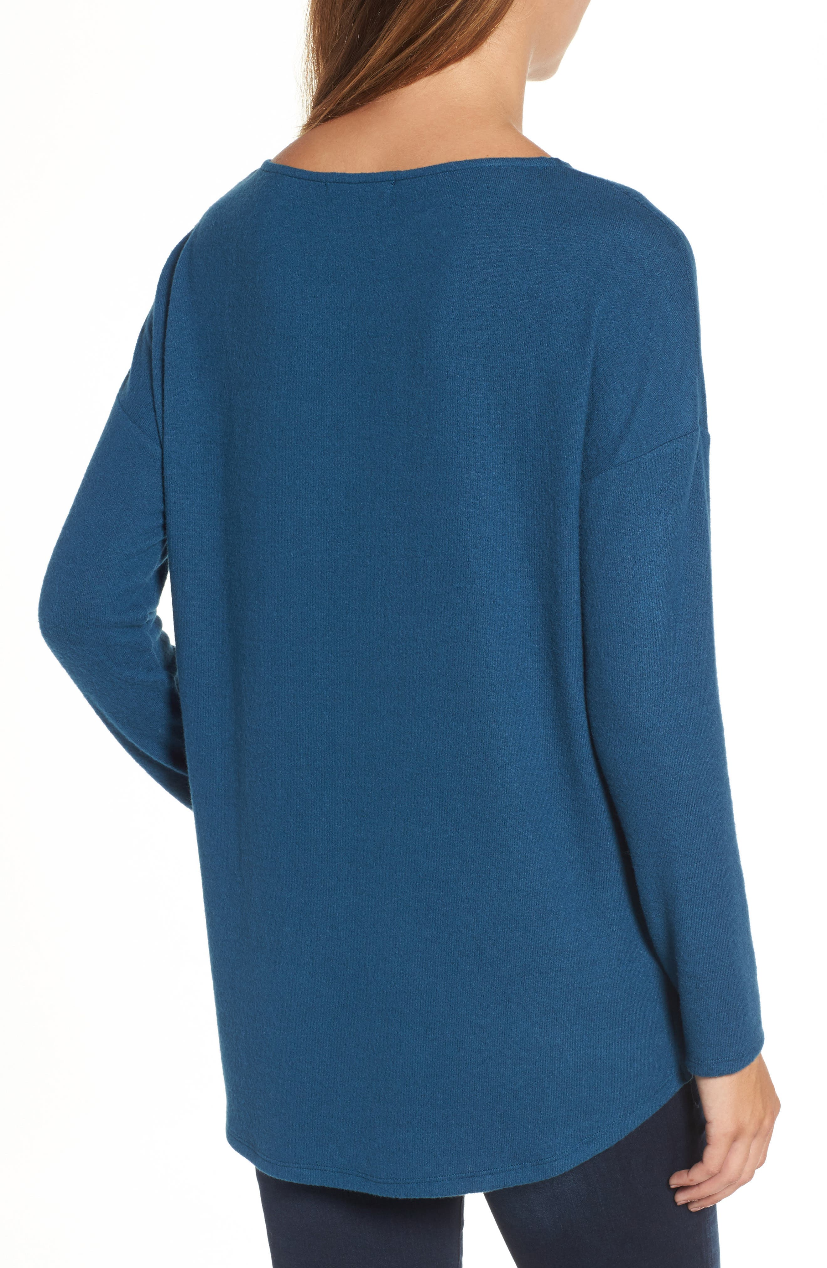 Cozy Ballet Neck High/Low Pullover,                             Alternate thumbnail 21, color,