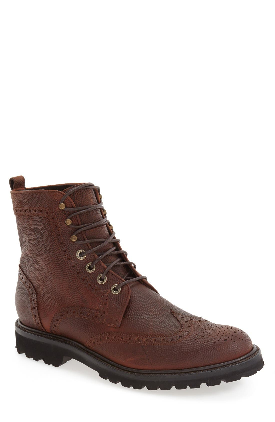 WOLVERINE,                             'Percy' Wingtip Boot,                             Main thumbnail 1, color,                             200