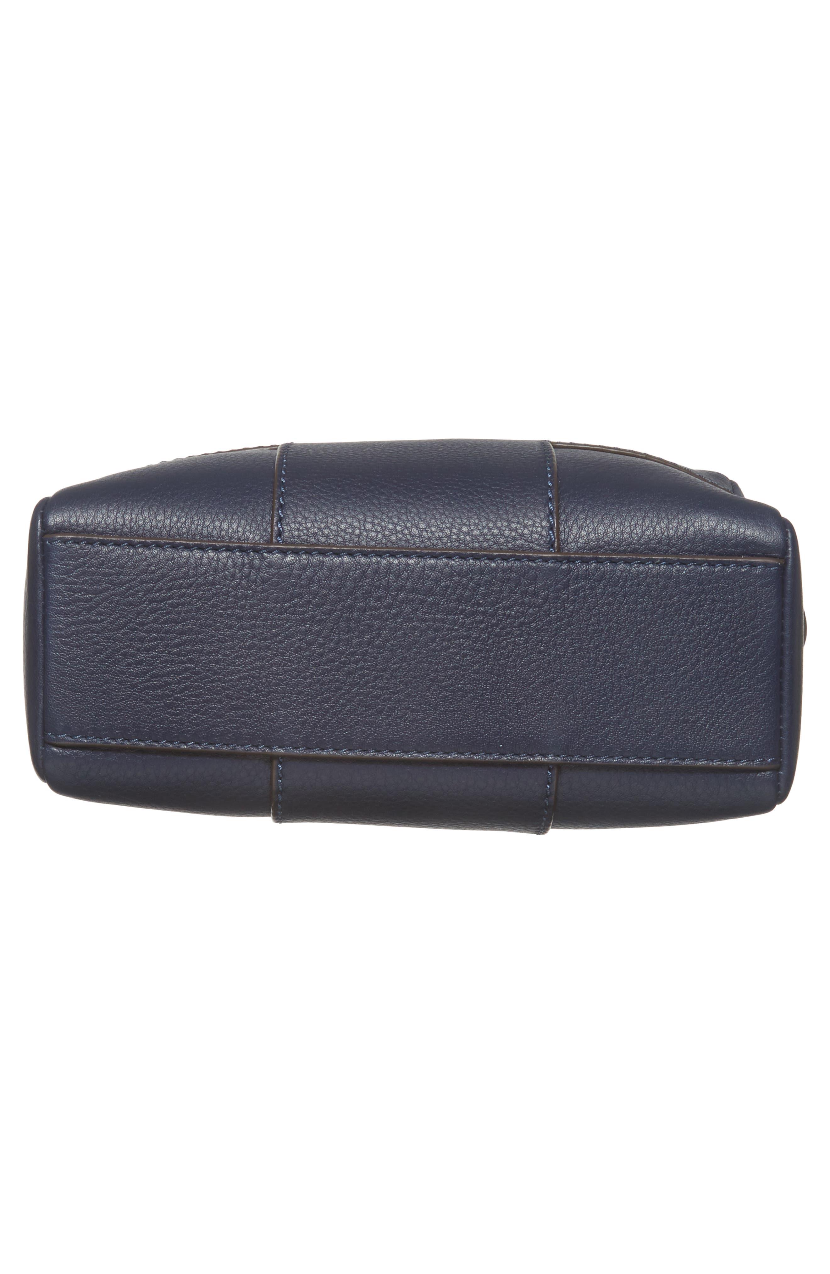 Block-T Double Zip Leather Crossbody Bag,                             Alternate thumbnail 12, color,