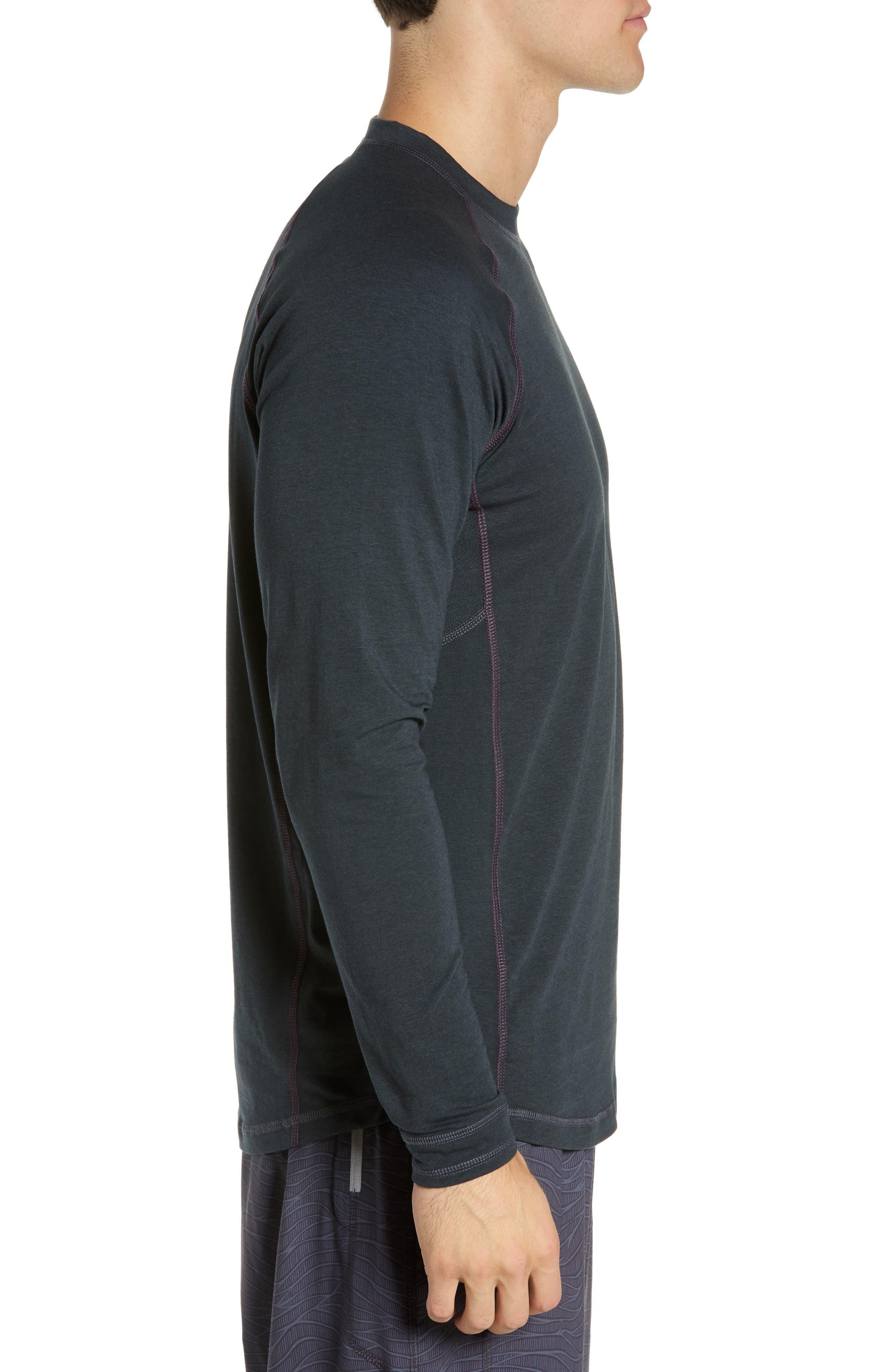 Charge II Long Sleeve T-Shirt,                             Alternate thumbnail 3, color,                             GUNMETAL/ ECLIPSE