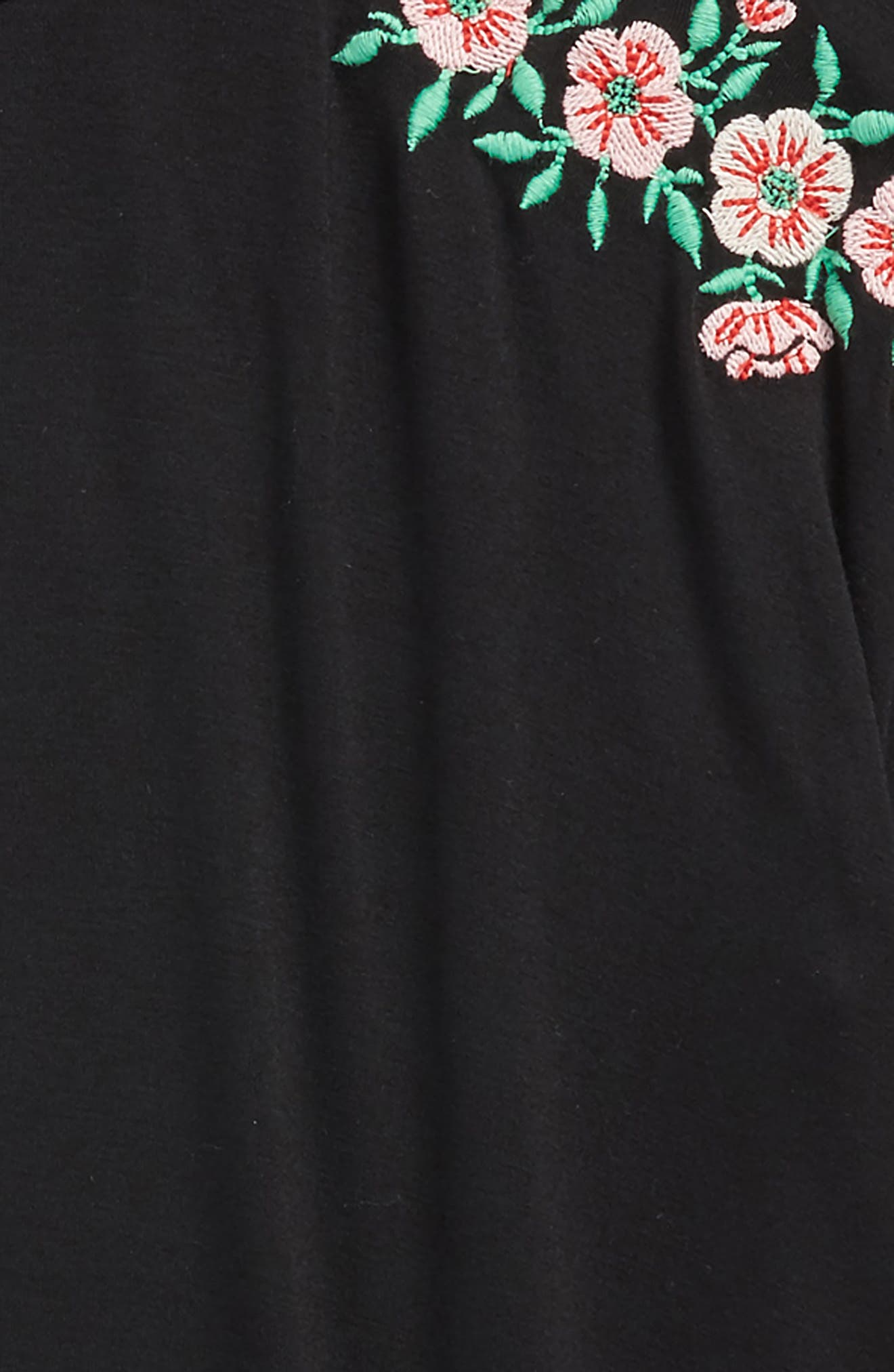 Embroidered Tee,                             Alternate thumbnail 2, color,                             001