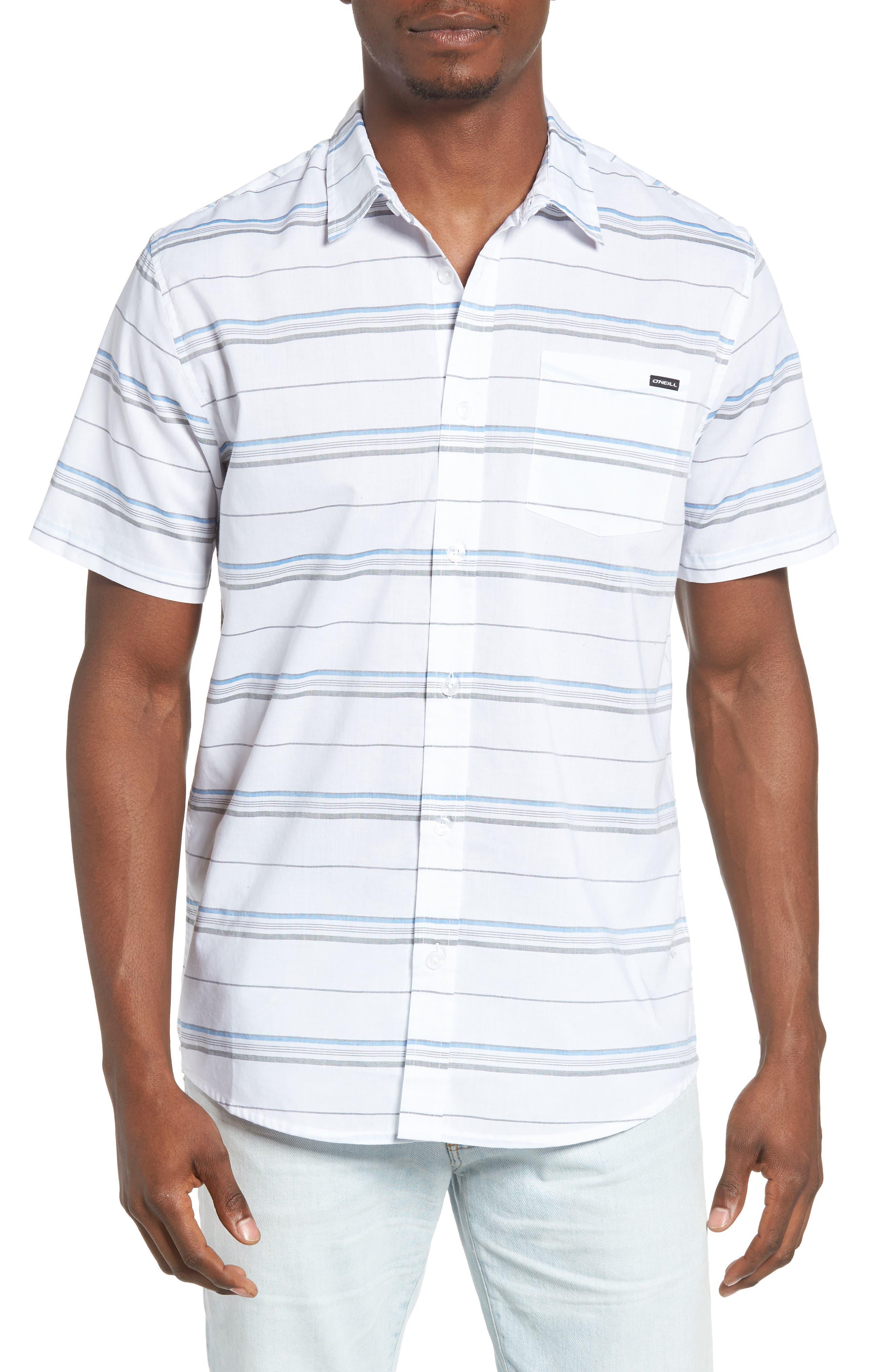 Striped Woven Shirt,                             Main thumbnail 3, color,