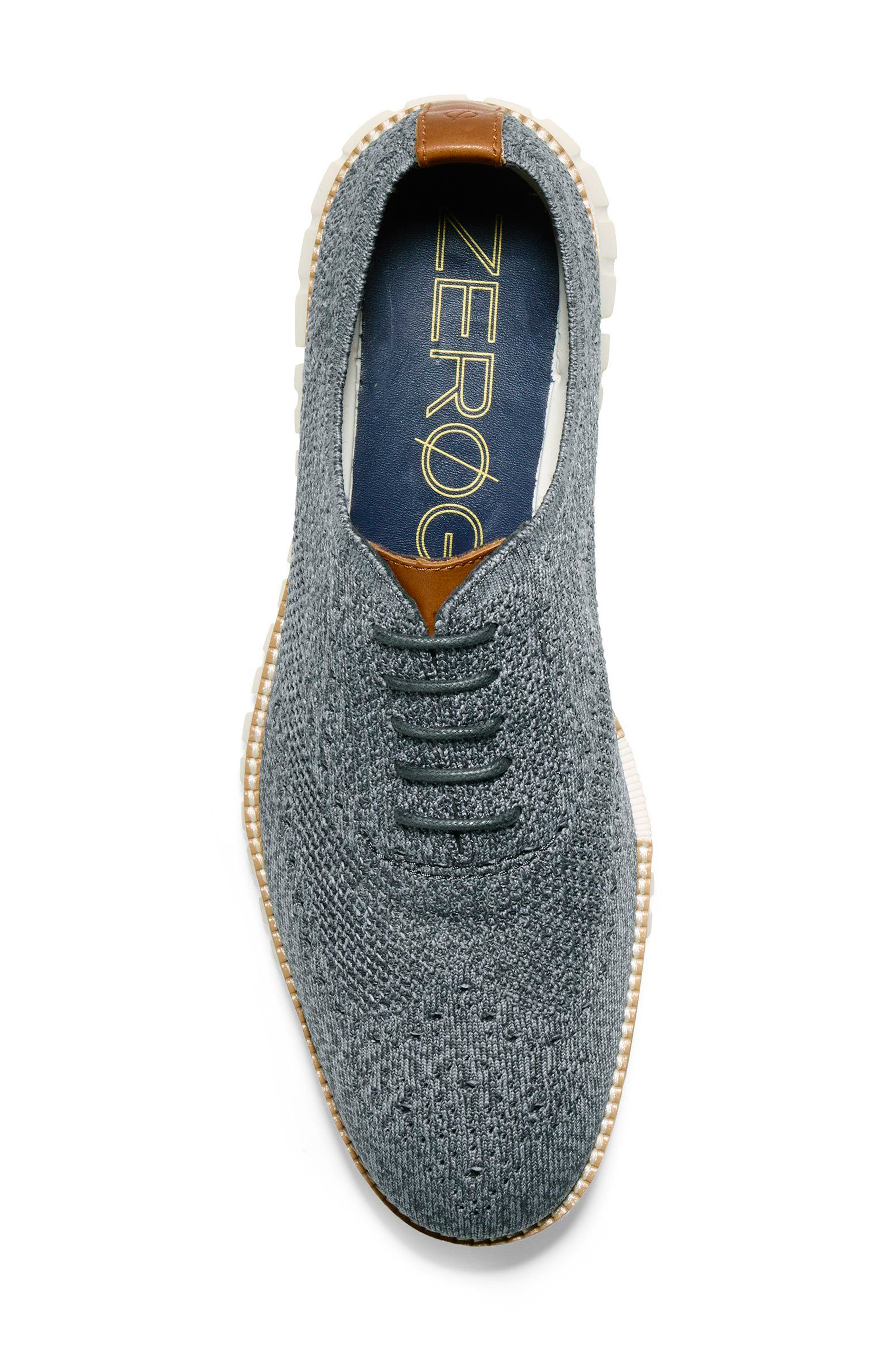 ZeroGrand Stitchlite Woven Wool Wingtip,                             Alternate thumbnail 5, color,                             IRONSTONE/ MAGNET/ IVORY