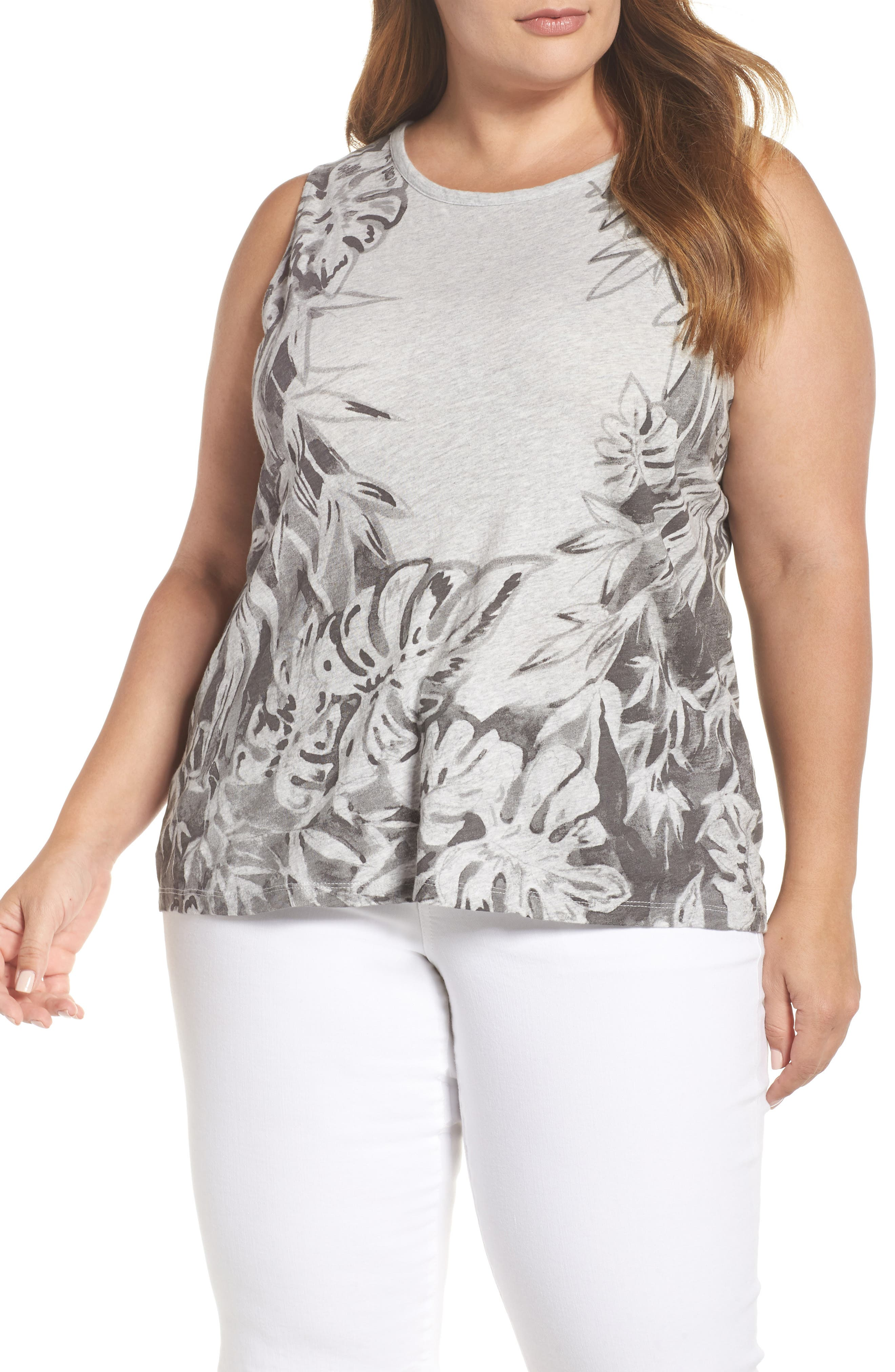 Print Floral Tank,                             Main thumbnail 1, color,                             060