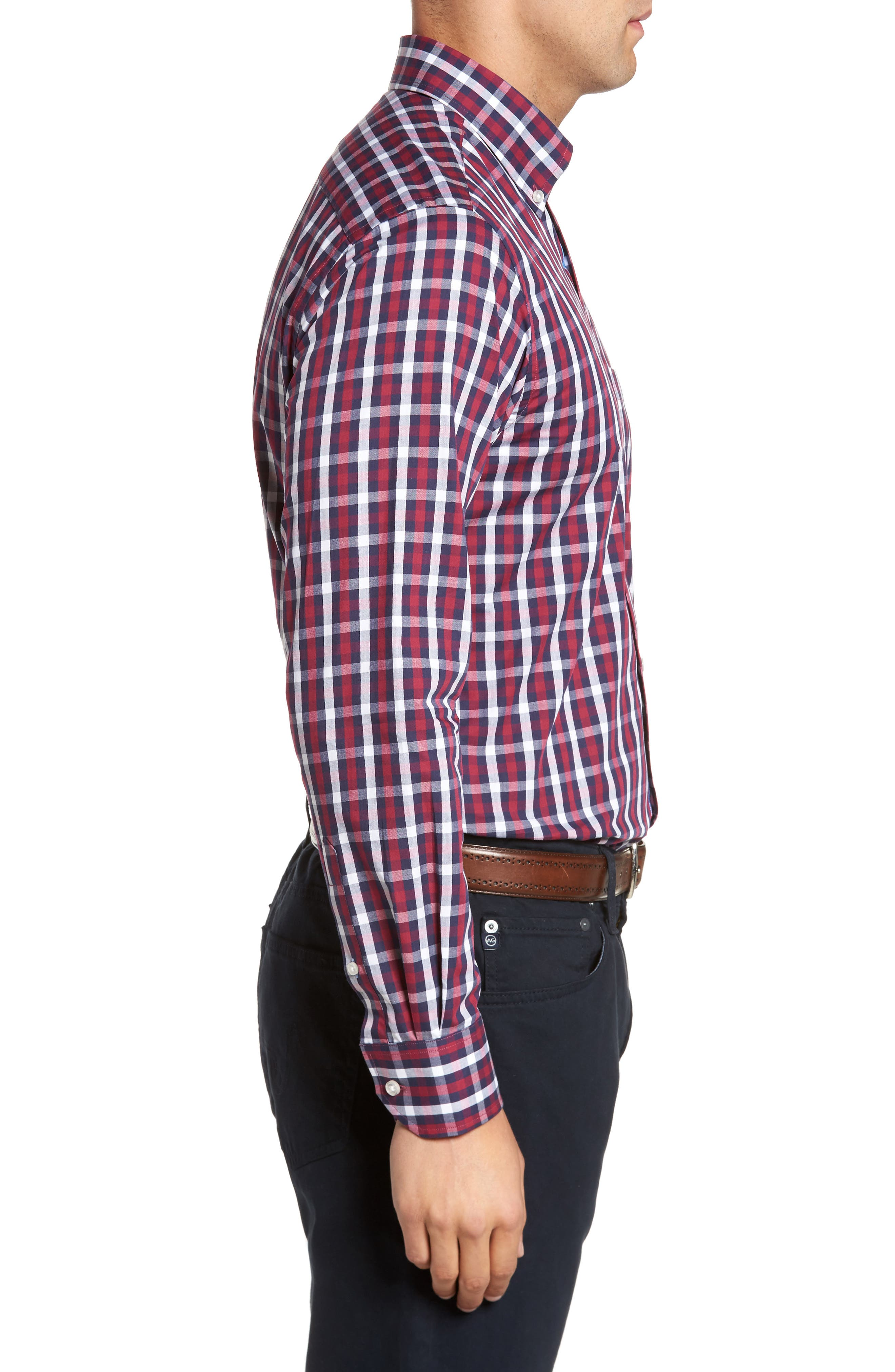 Covington Check Sport Shirt,                             Alternate thumbnail 3, color,                             617