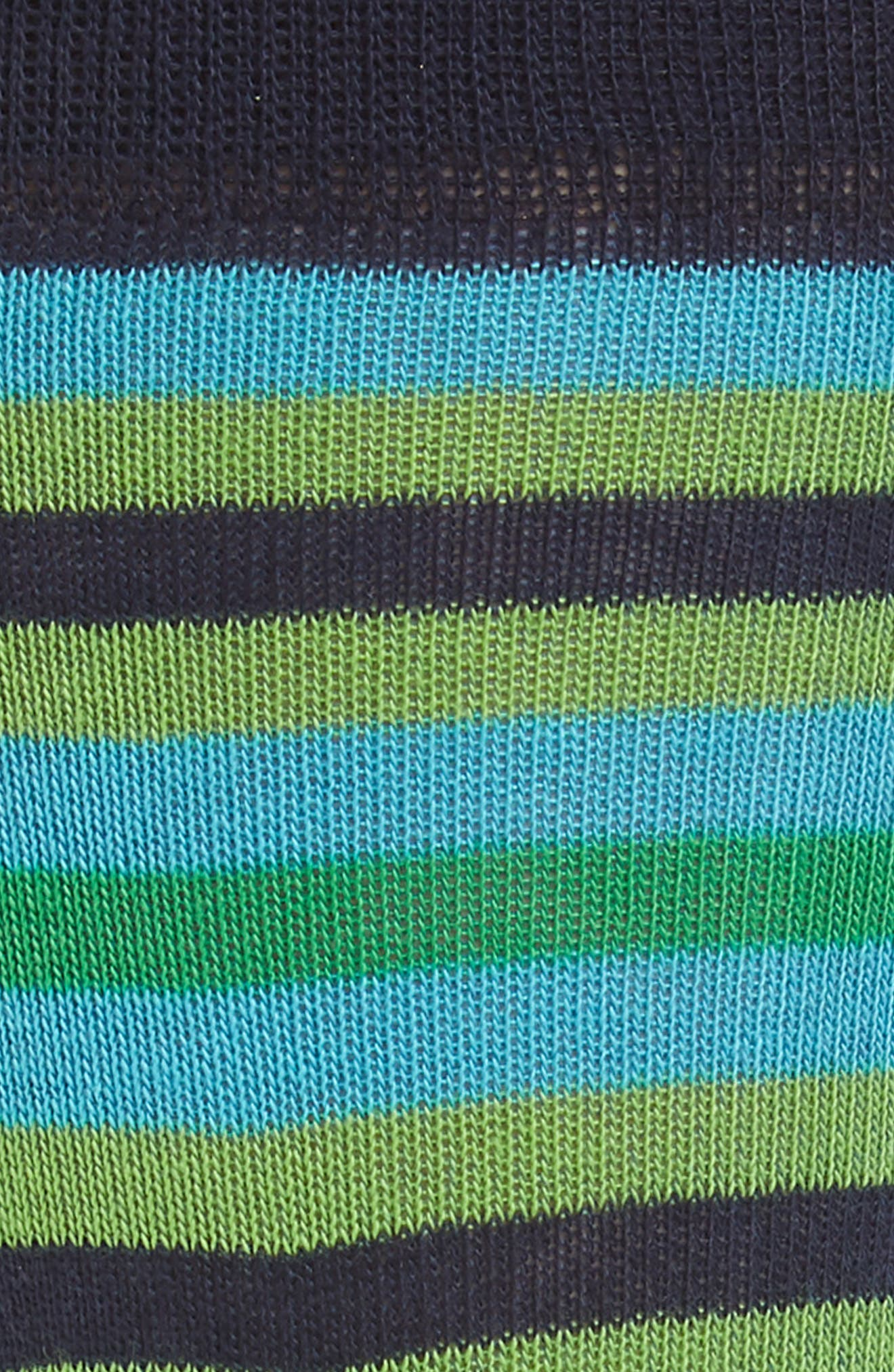Organic Stripe Socks,                             Alternate thumbnail 2, color,                             NAVY