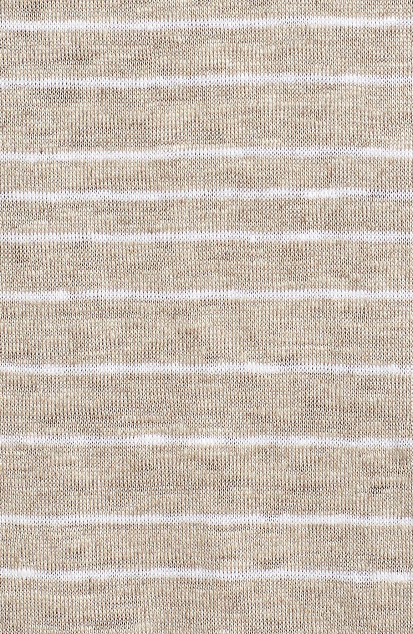 Stripe Organic Linen Tunic,                             Alternate thumbnail 11, color,