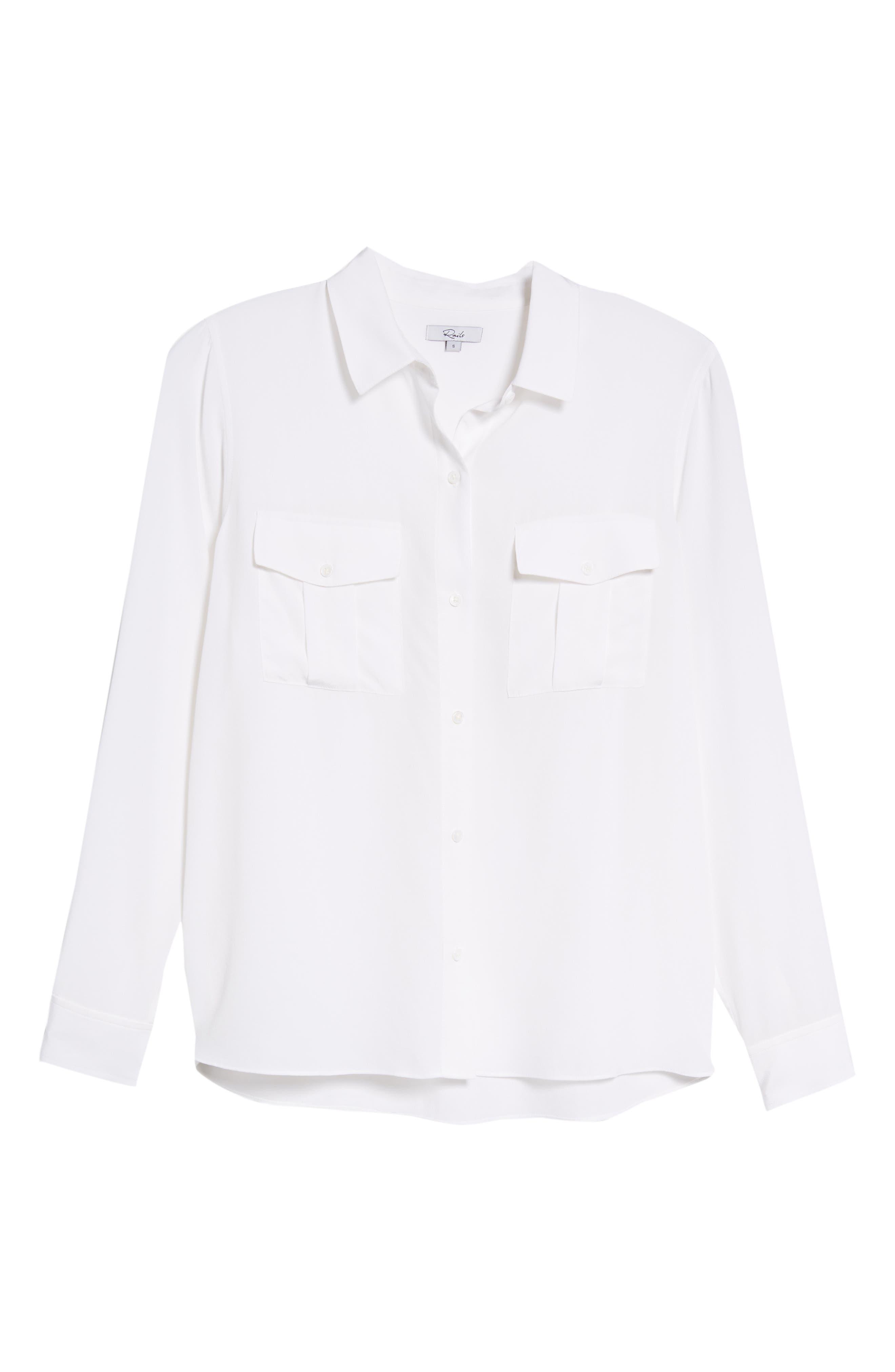 Rhett Silk Shirt,                             Alternate thumbnail 7, color,                             IVORY