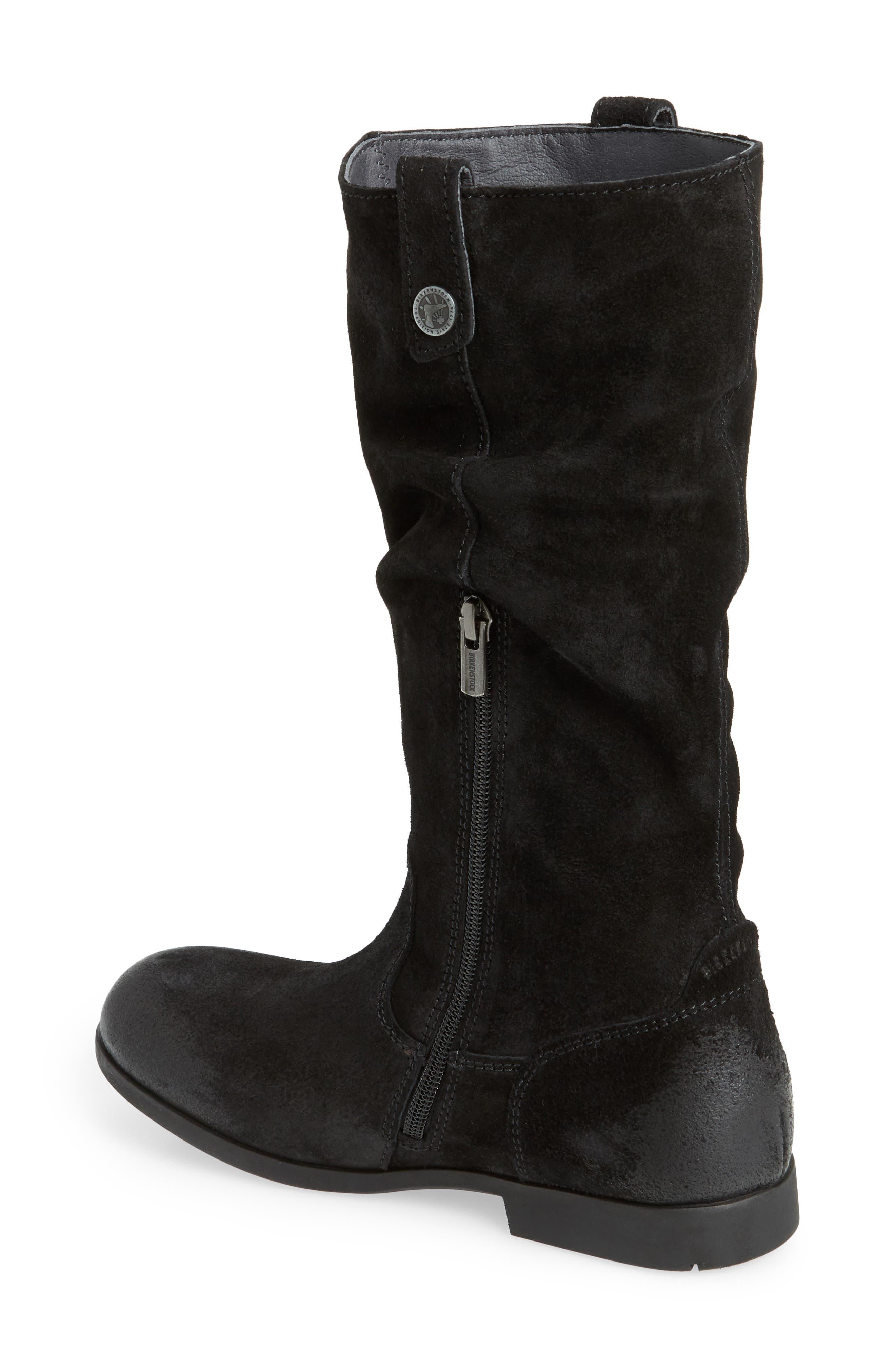 Sarnia High Boot,                             Alternate thumbnail 2, color,                             BLACK LEATHER