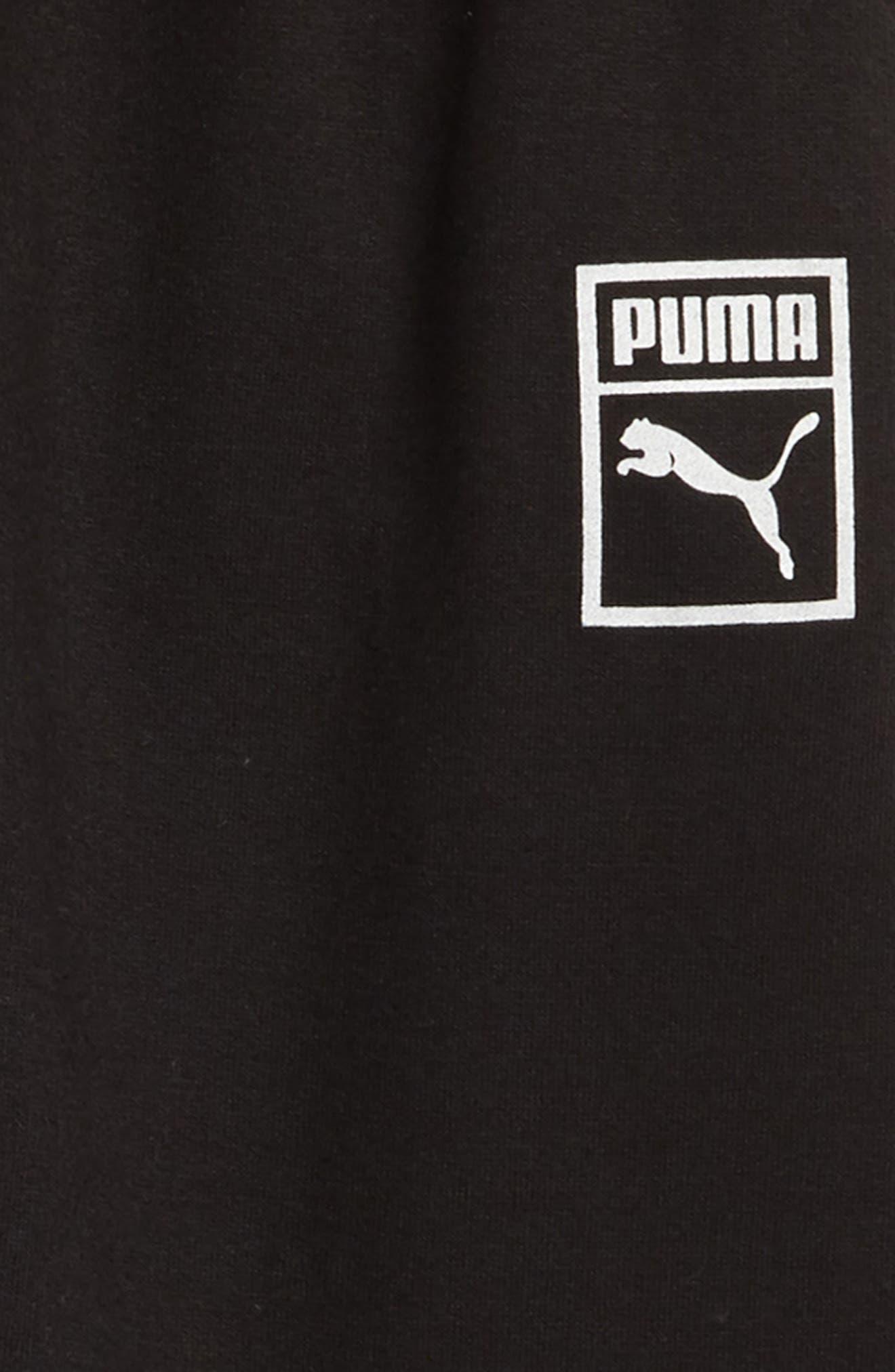 PUMA,                             Fleece Jogger Pants,                             Alternate thumbnail 2, color,                             001