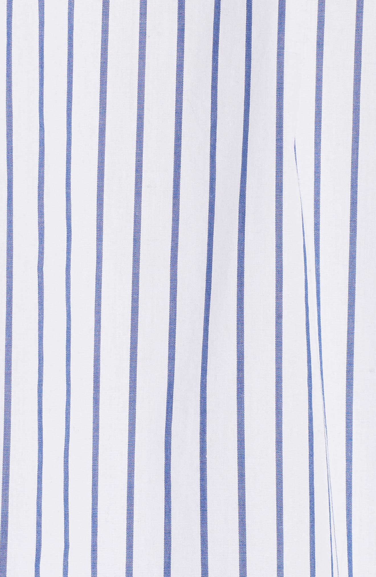 Flutter Sleeve Stripe Shirt,                             Alternate thumbnail 5, color,                             120