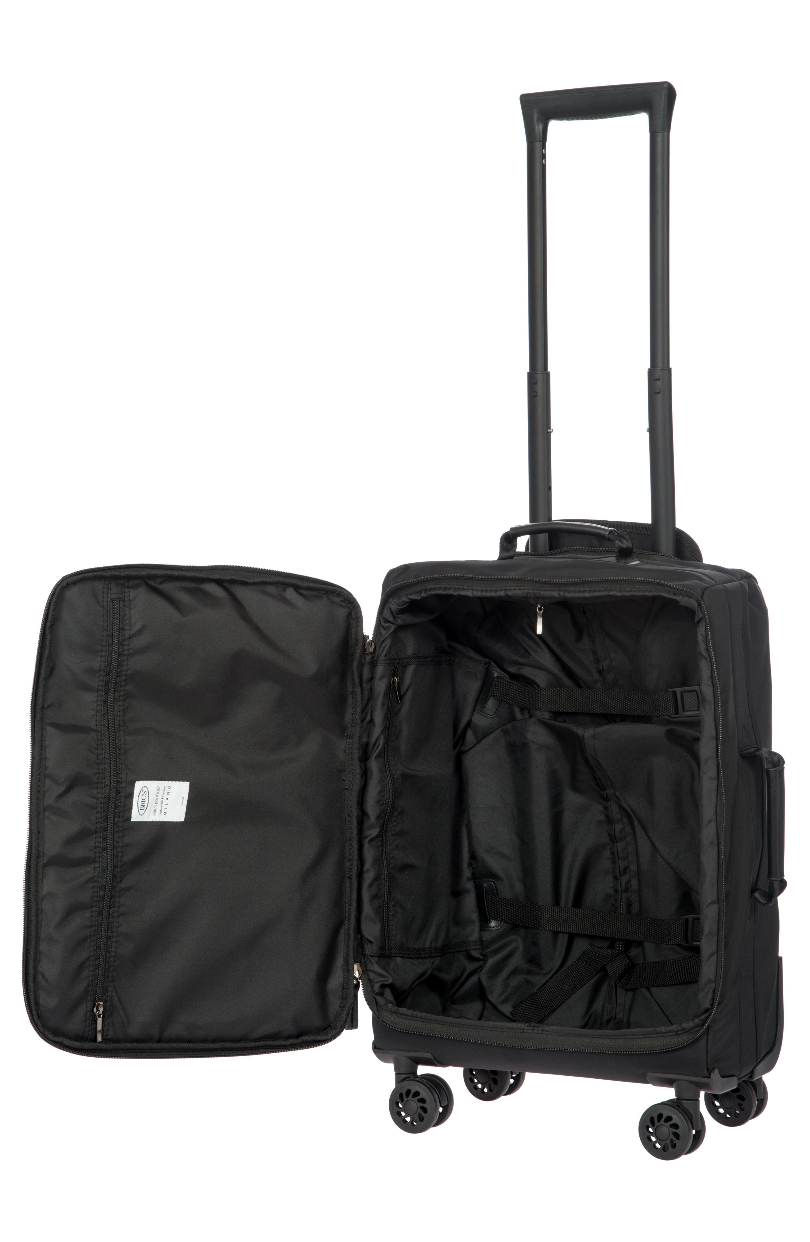 X-Bag 21-Inch Spinner Carry-On,                             Alternate thumbnail 2, color,                             BLACK/ BLACK
