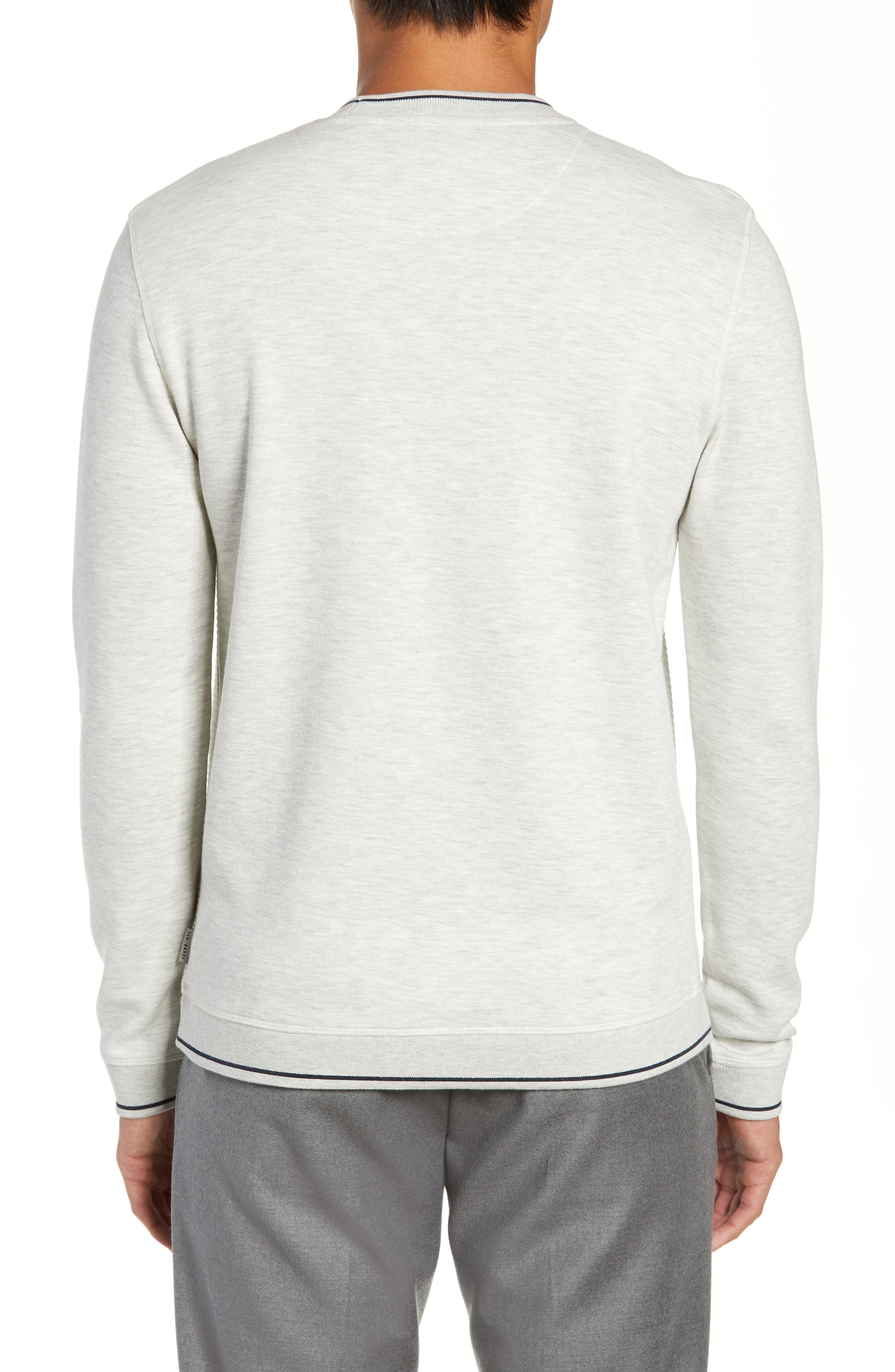 Magiics Slim Fit Quilted Sweatshirt,                             Alternate thumbnail 2, color,                             LIGHT GREY