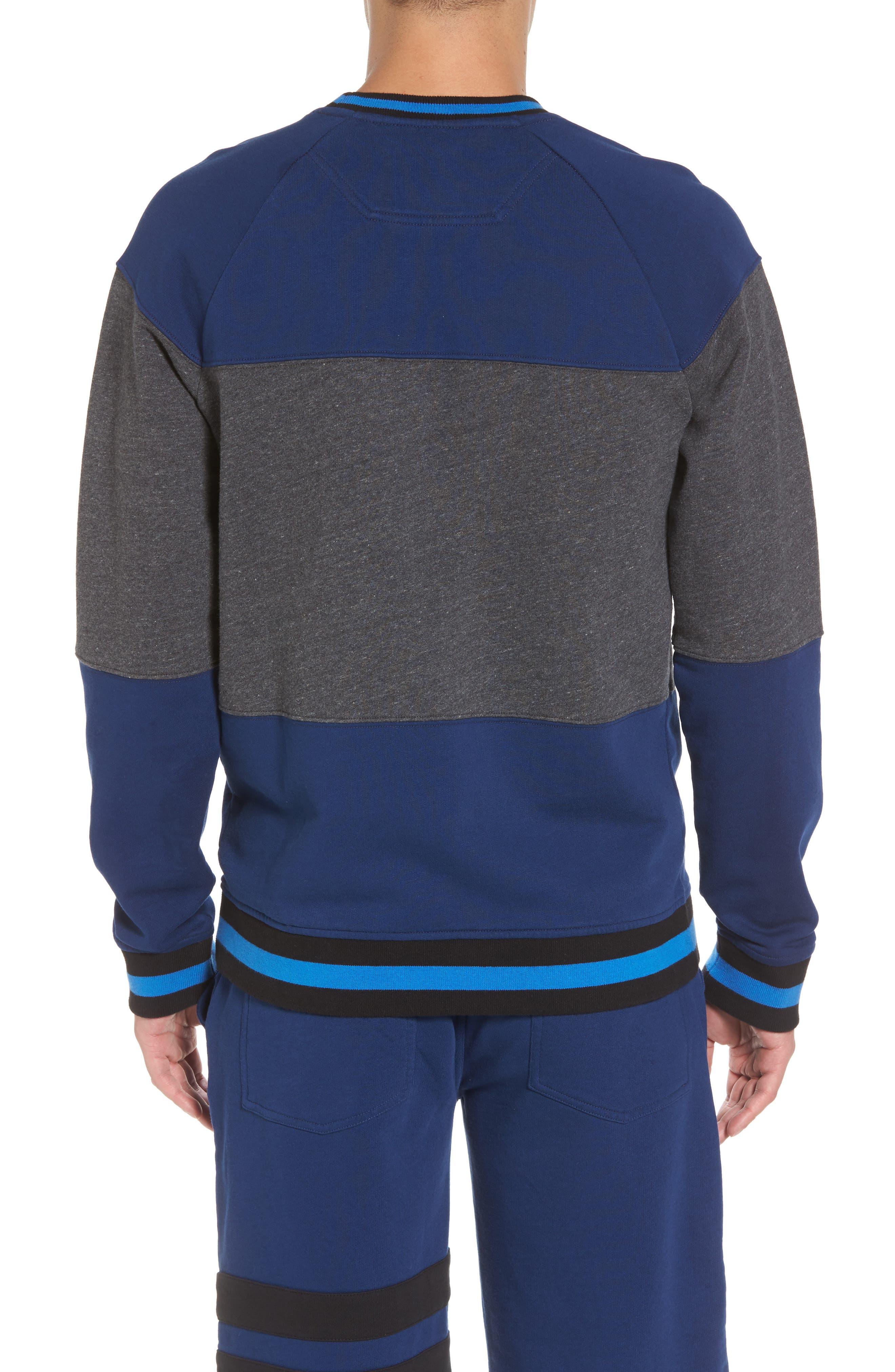 Tipped Colorblock Sweatshirt,                             Alternate thumbnail 2, color,                             401