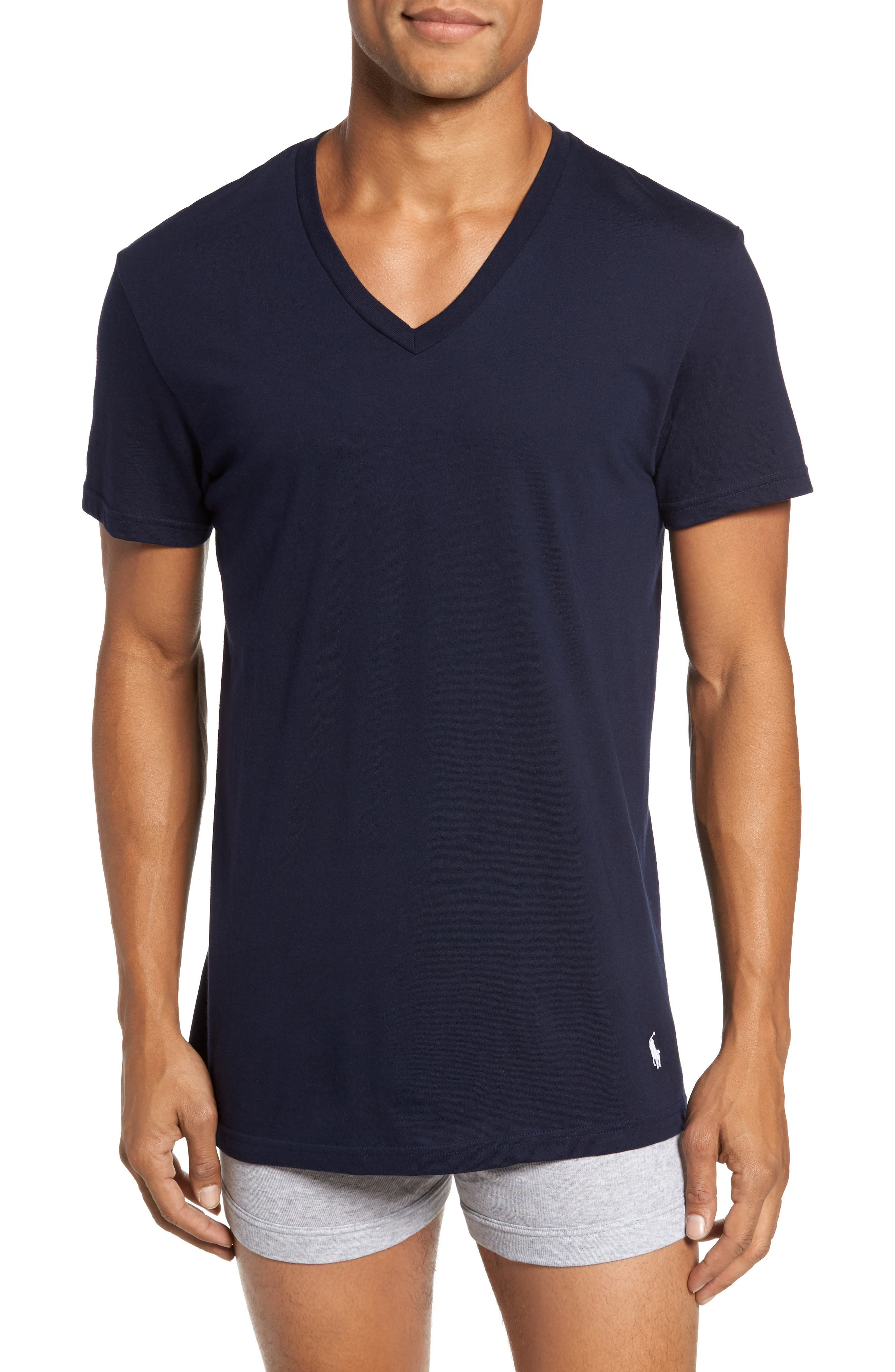3-Pack V-Neck T-Shirts,                         Main,                         color, 111