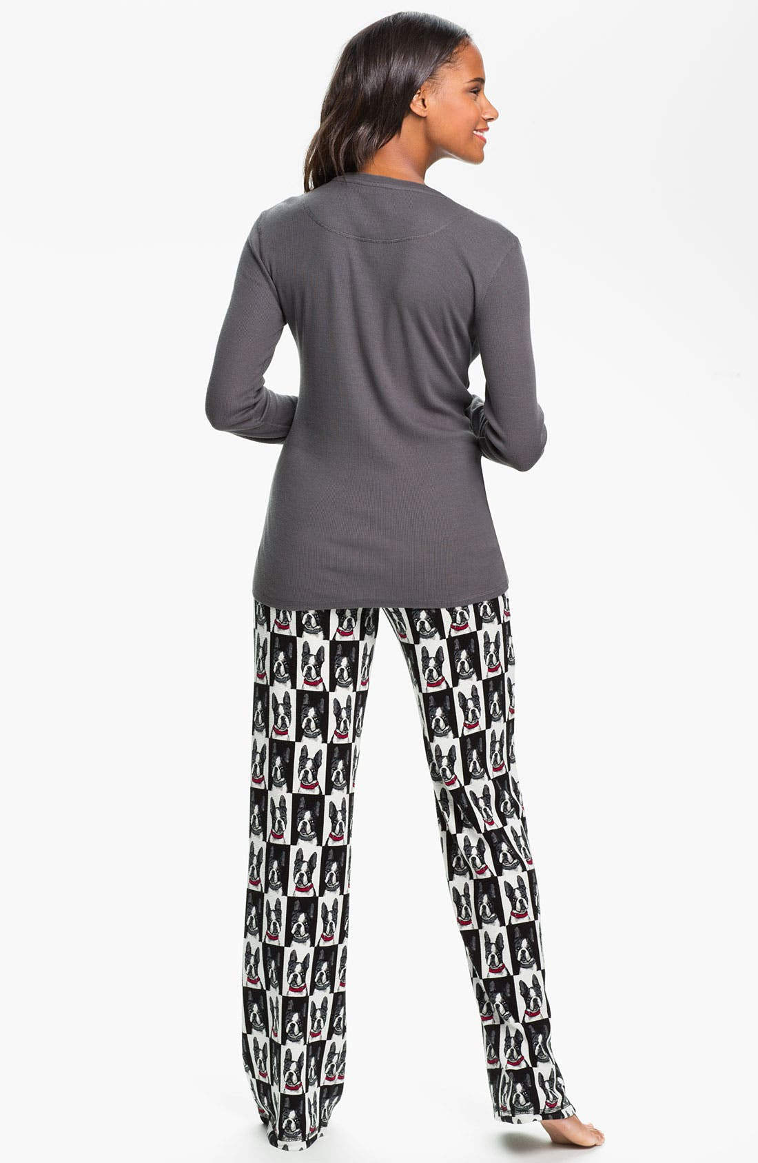 Print Thermal Pajama Pants,                             Alternate thumbnail 2, color,                             001