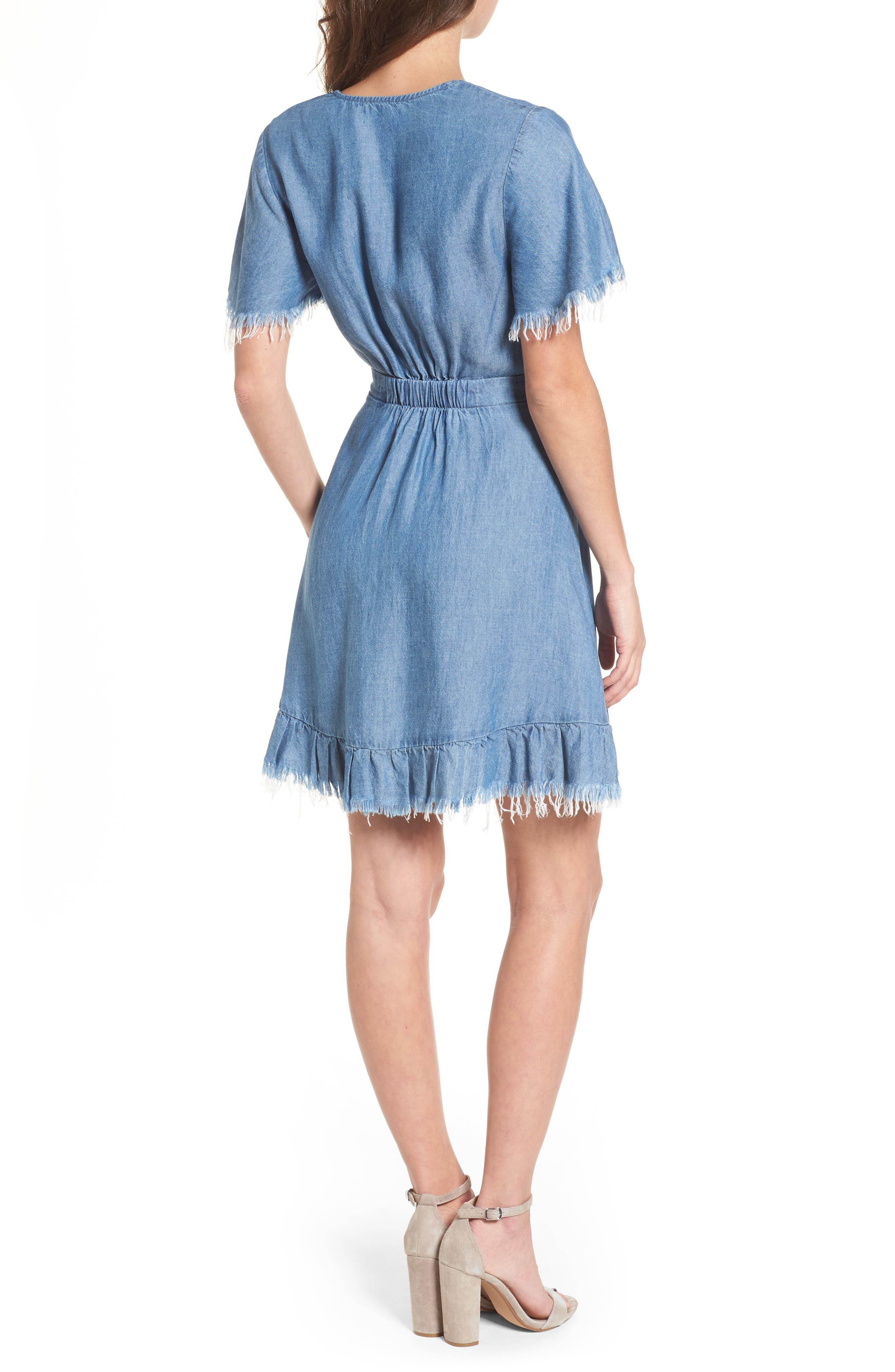 Melanie Ruffle Minidress,                             Alternate thumbnail 2, color,                             400