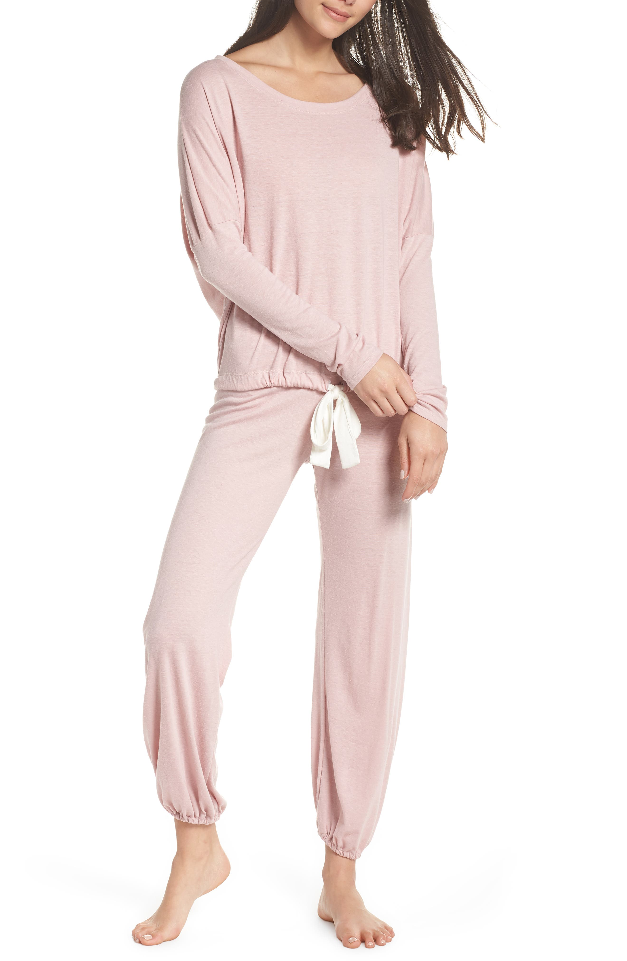 Heather Knit Slouchy Tee,                             Alternate thumbnail 7, color,                             CASHMERE ROSE