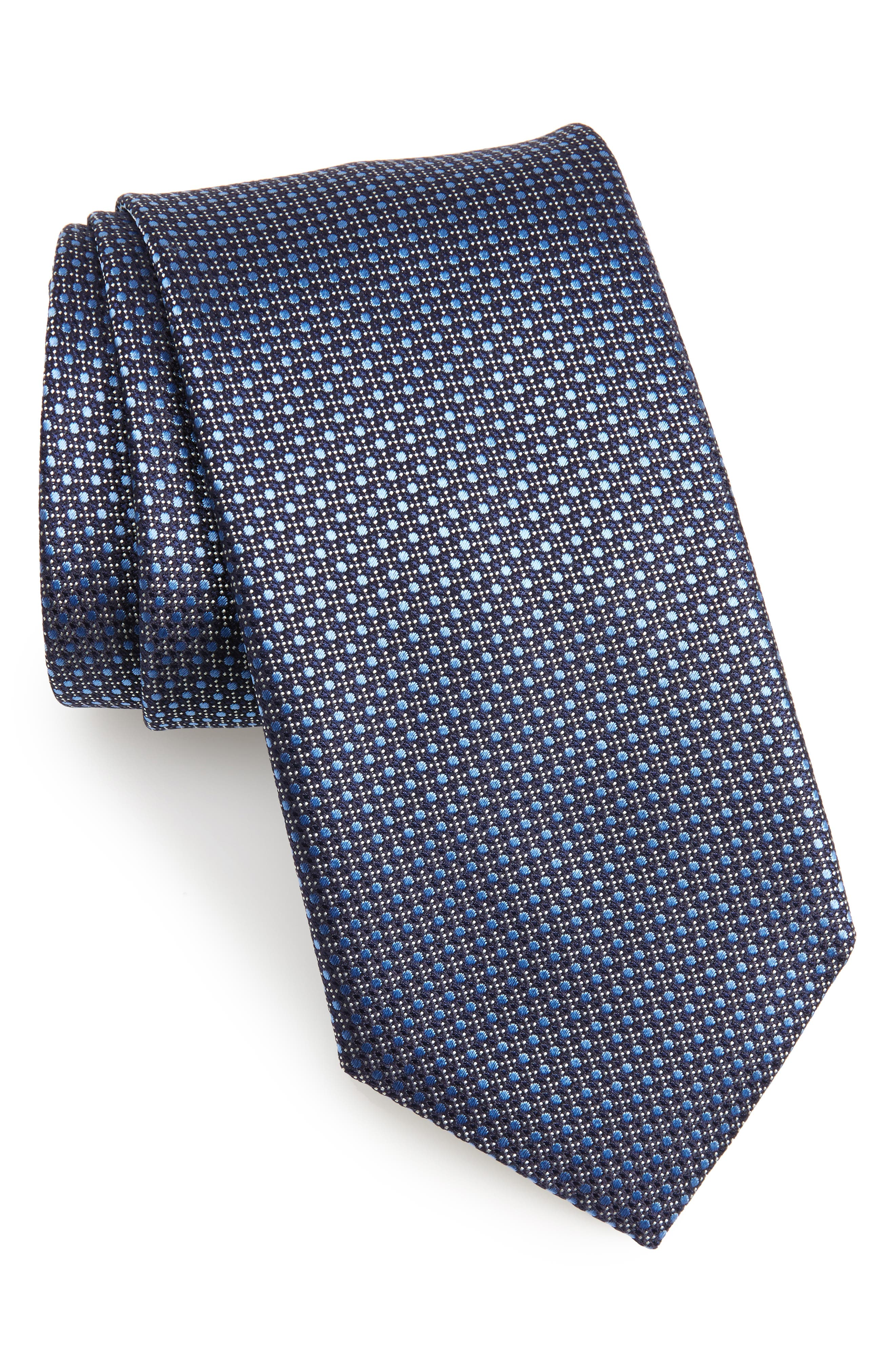 Neat Silk Tie,                         Main,                         color, 410