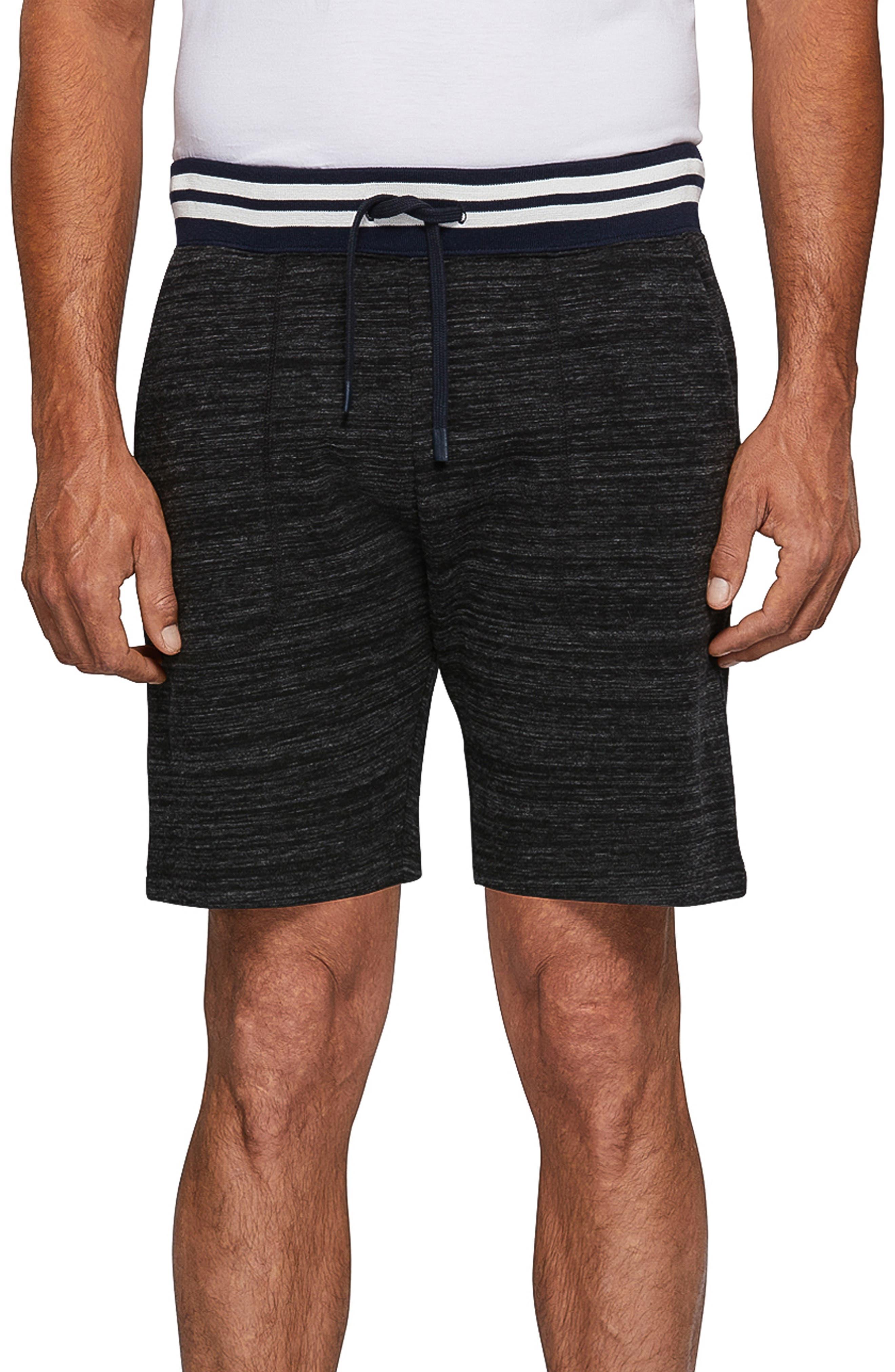 PSYCHO BUNNY Knit Shorts in Heather Granite