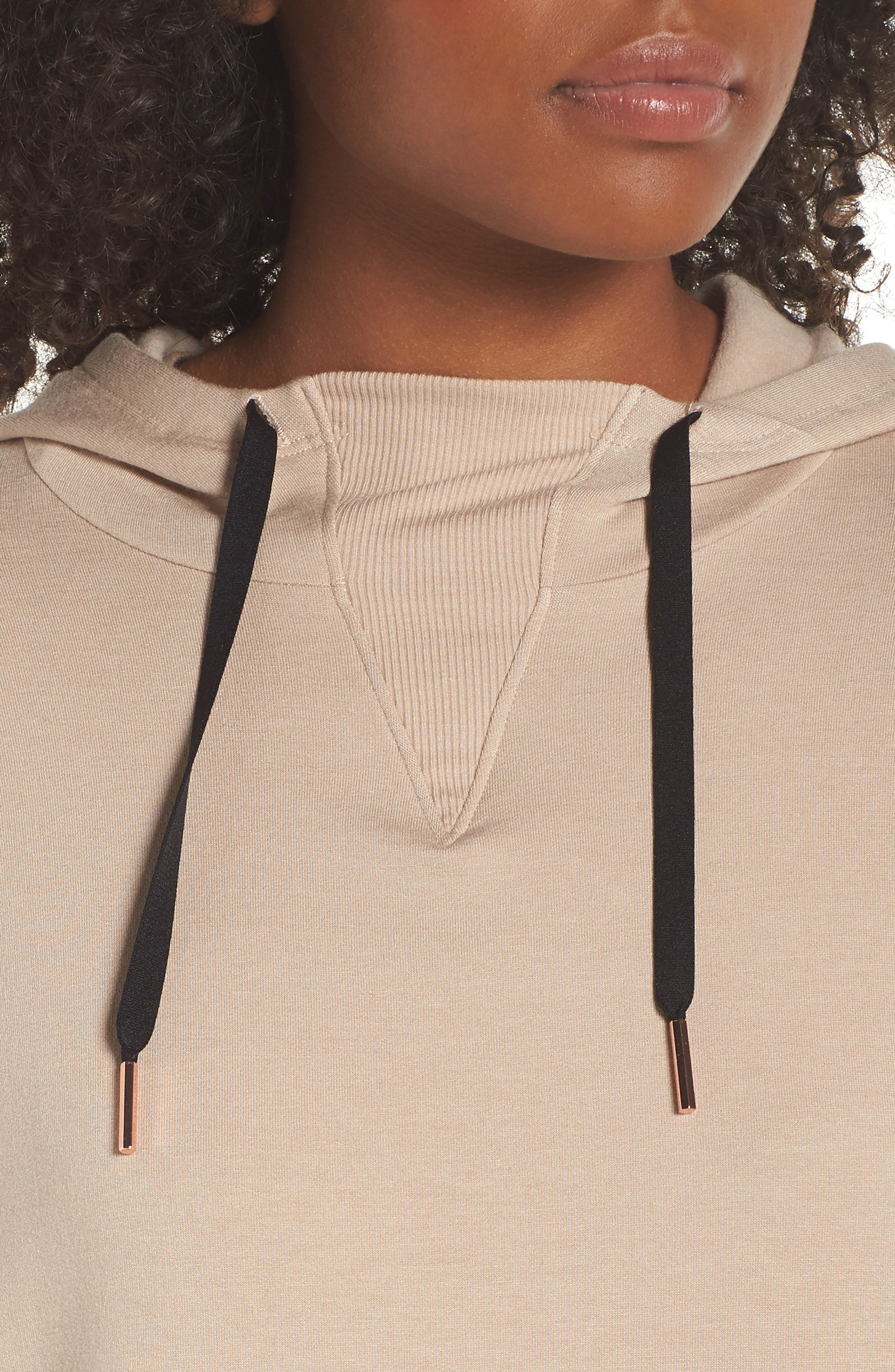 Sedona Cropped Hoodie,                             Alternate thumbnail 4, color,                             TEXAS TAUPE