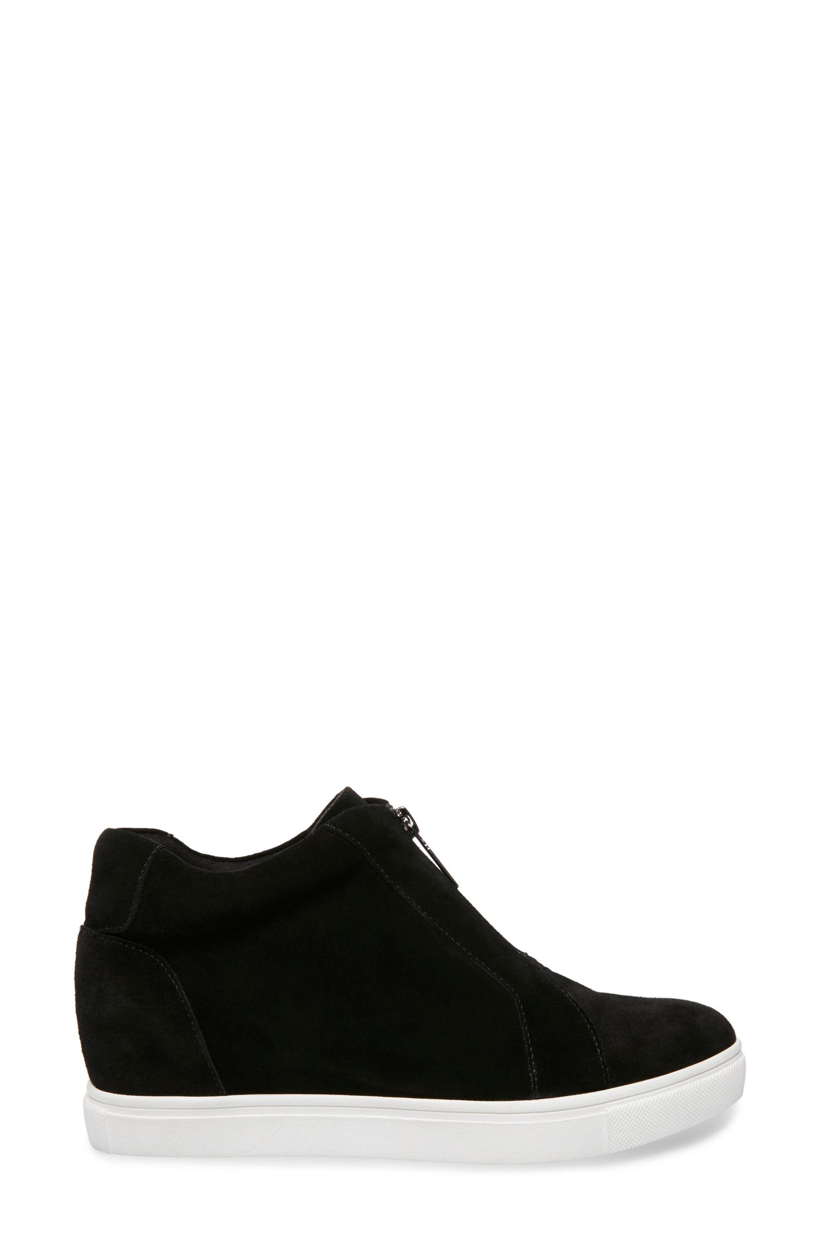 Glenda Waterproof Sneaker Bootie,                             Alternate thumbnail 3, color,                             BLACK SUEDE