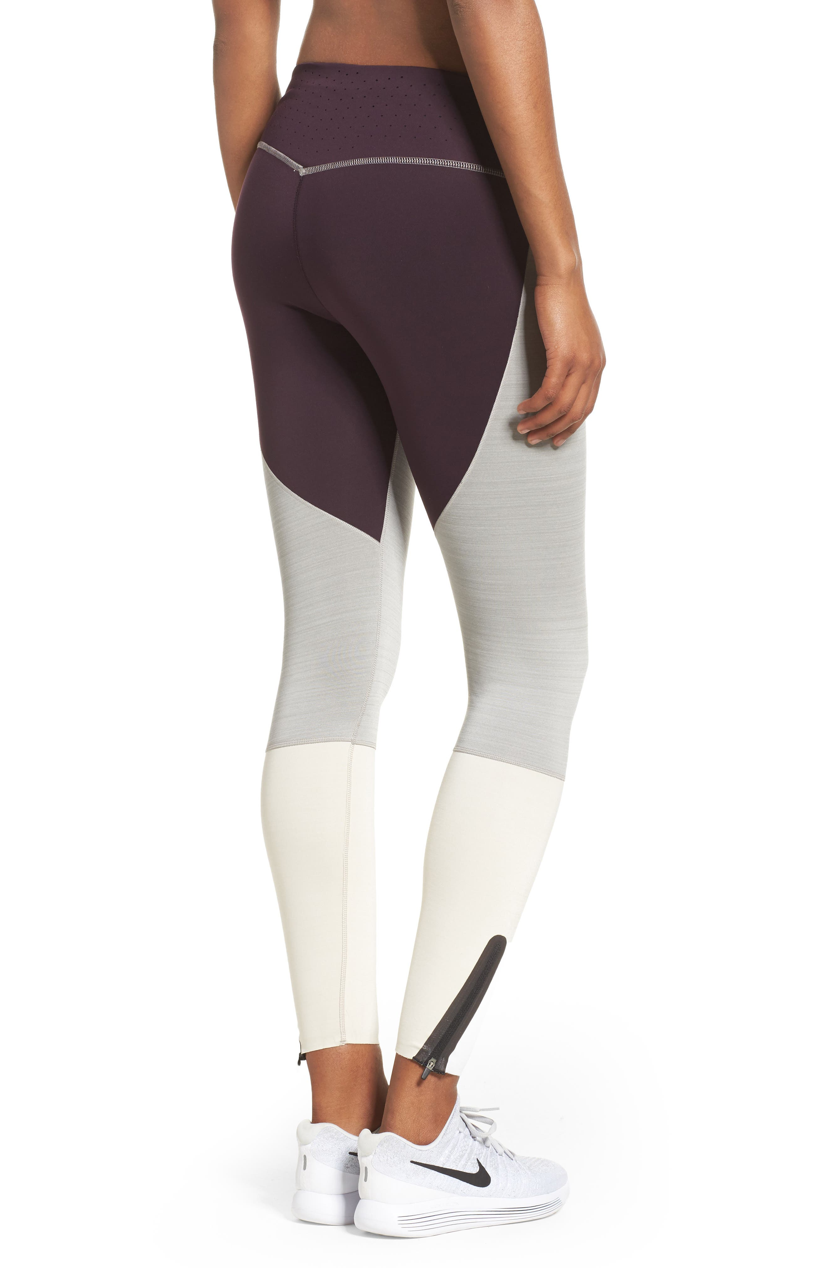 Legendary Mid Rise Zip Cuff Training Tights,                             Alternate thumbnail 8, color,
