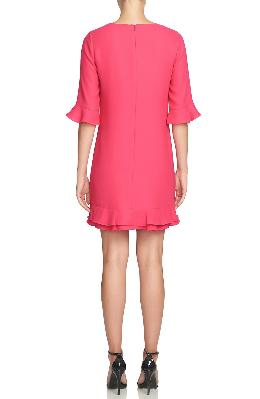 'Kate' Ruffle Hem Shift Dress,                             Alternate thumbnail 36, color,