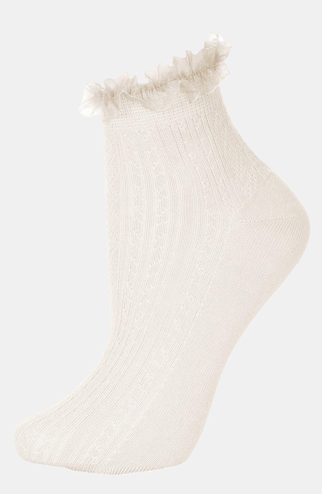 Lace Trim Ankle Socks,                             Main thumbnail 27, color,