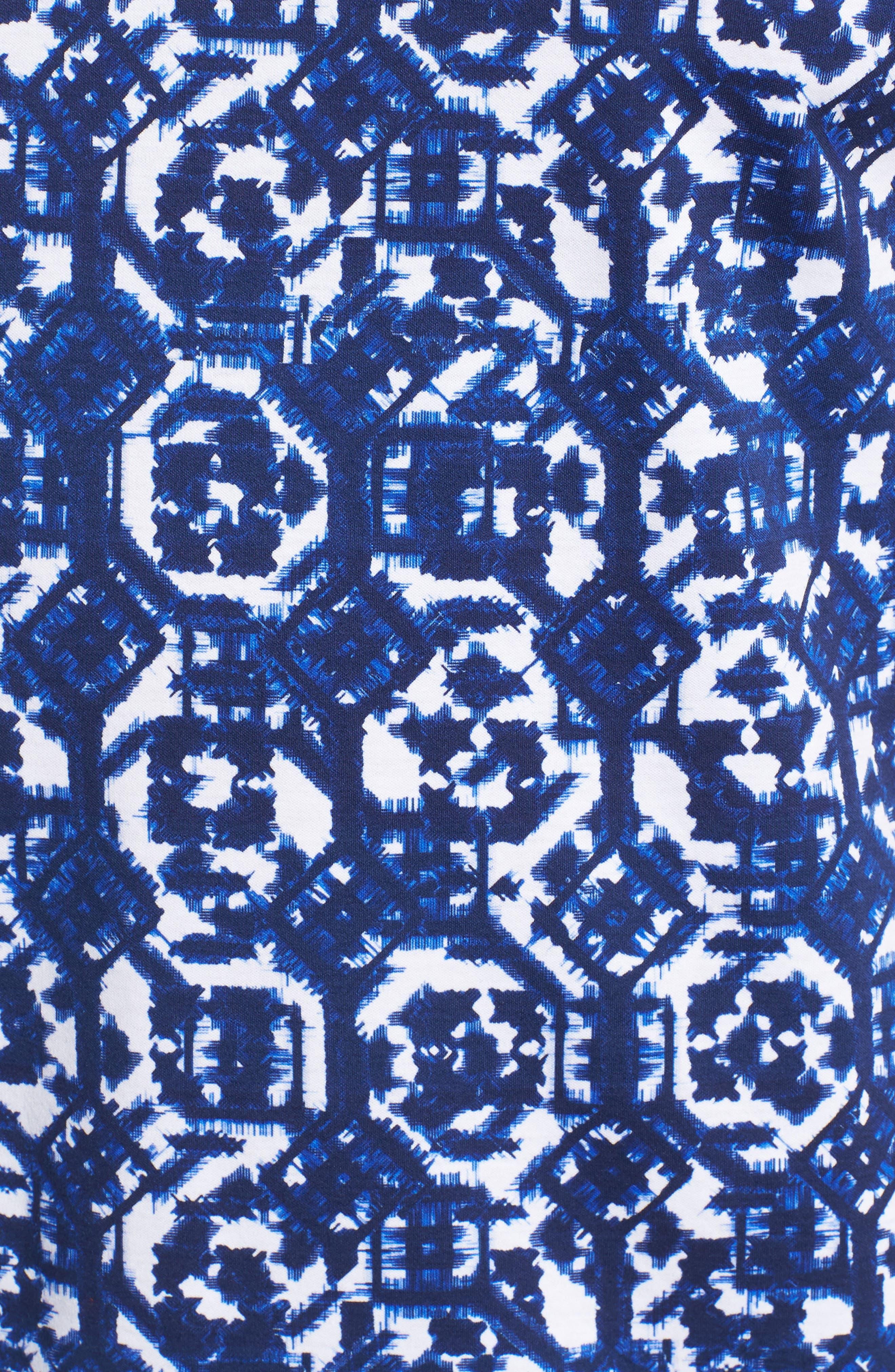 Geometric Knit Polo,                             Alternate thumbnail 5, color,                             410