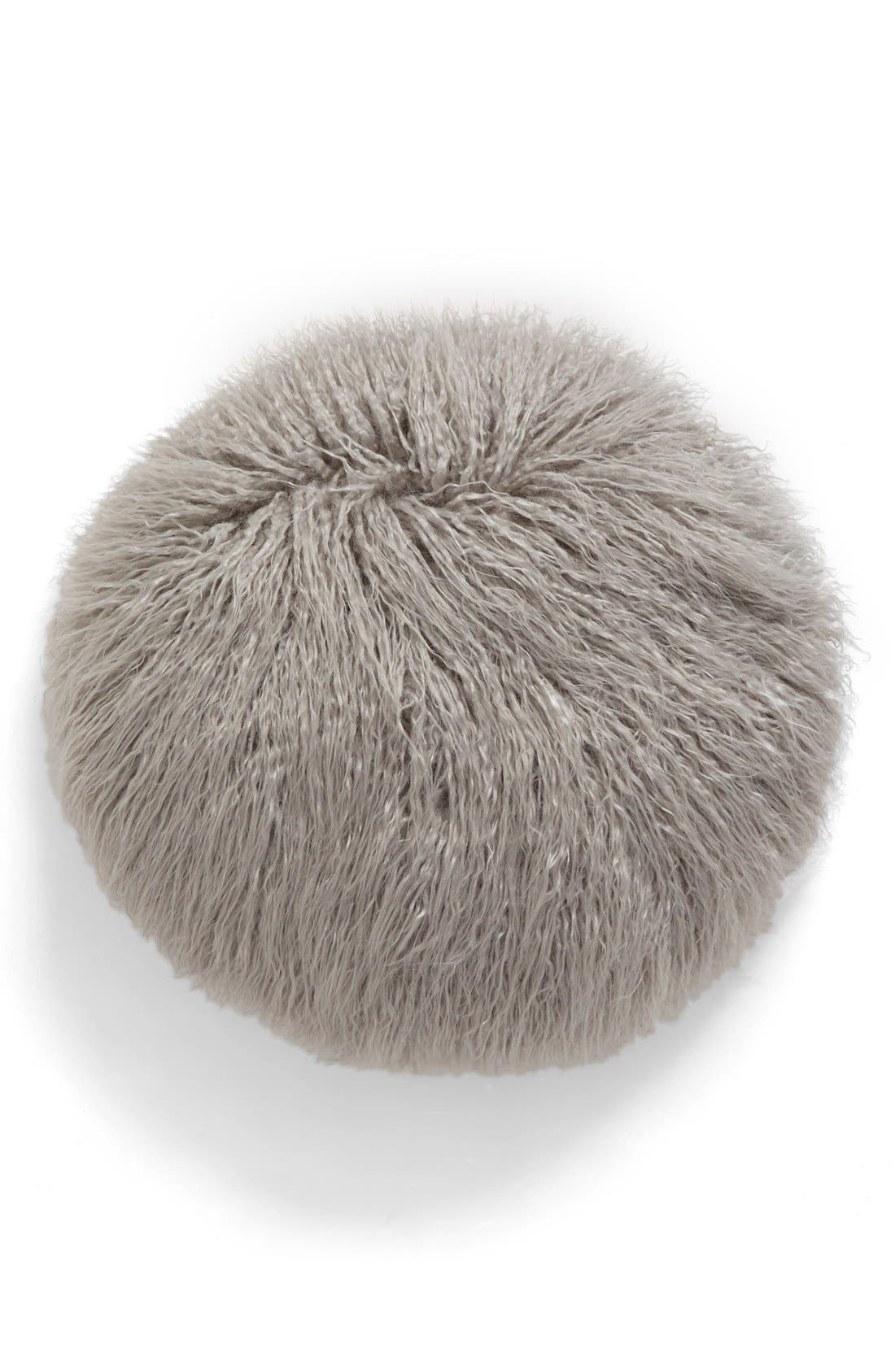 Faux Fur Accent Pillow,                             Main thumbnail 1, color,                             020