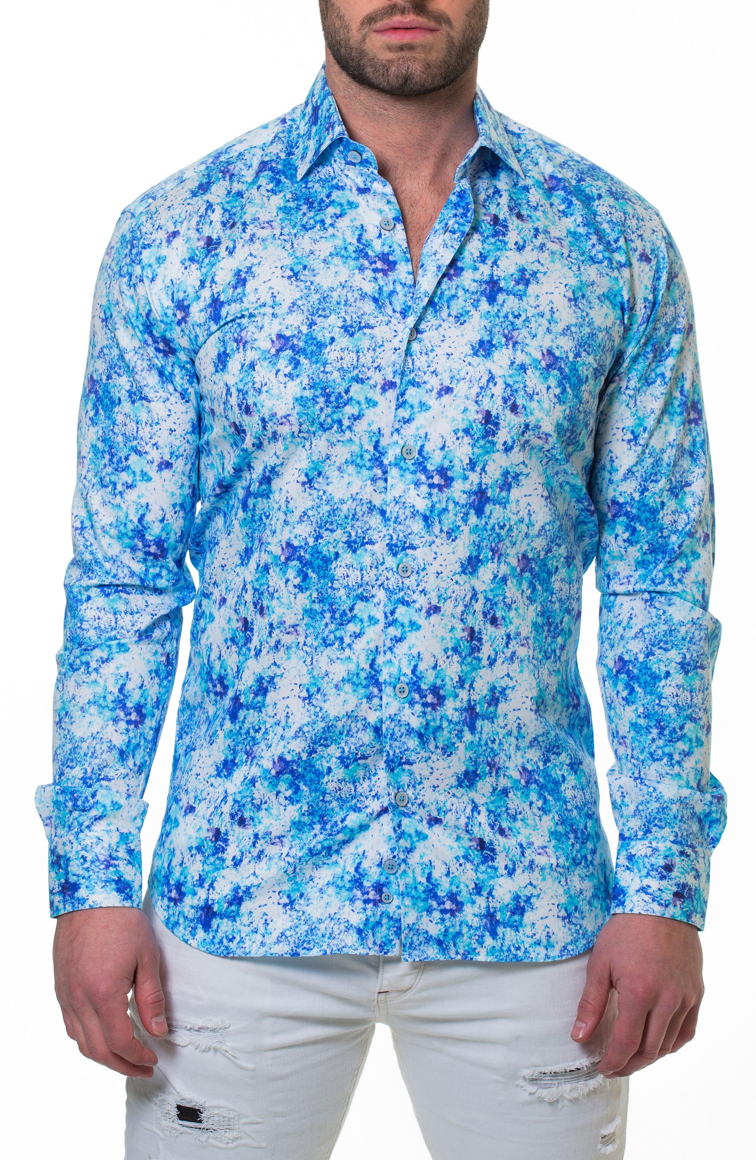 Luxor Noisy Slim Fit Sport Shirt,                             Alternate thumbnail 4, color,                             420