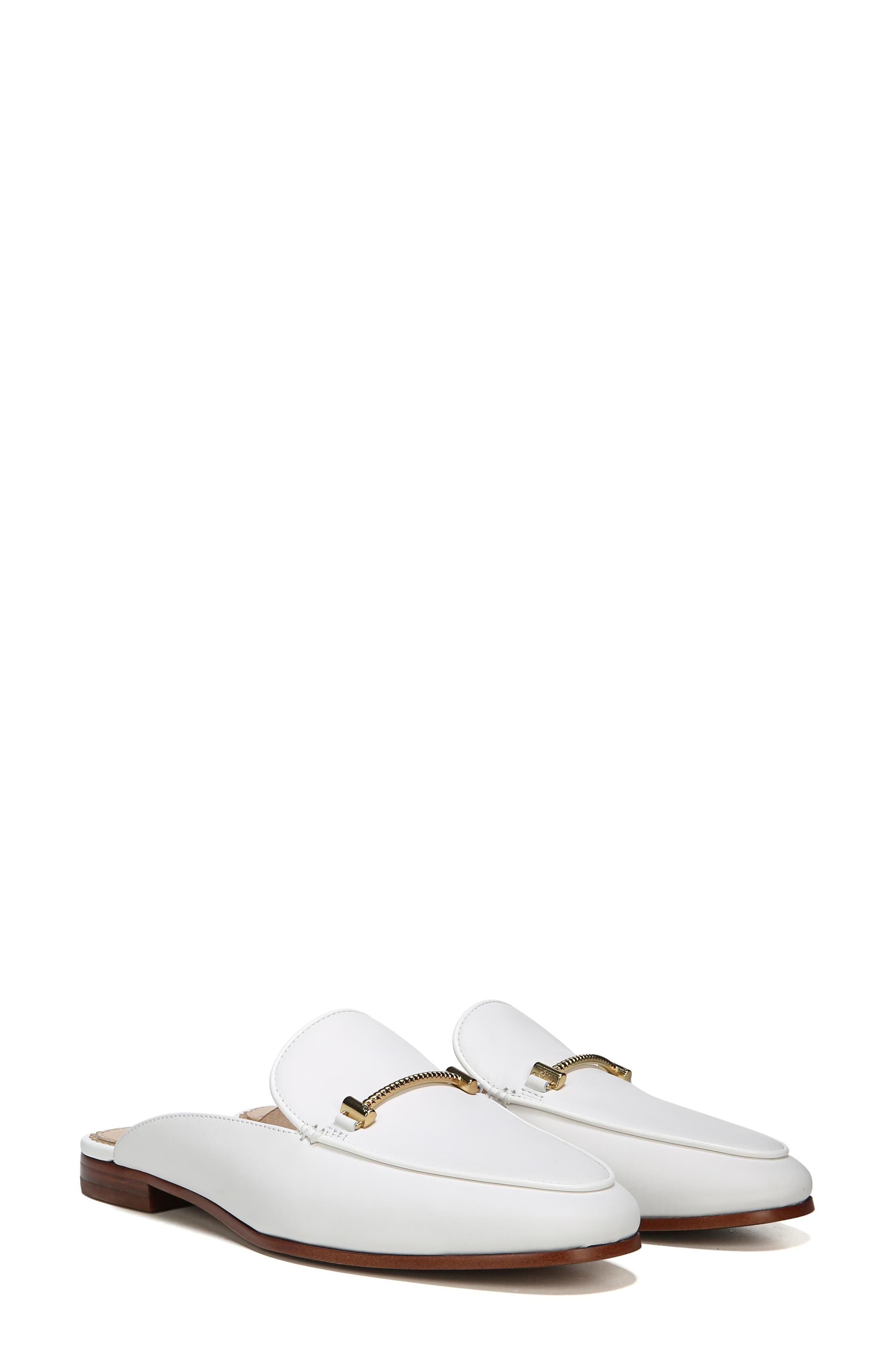 Laurna Mule,                             Main thumbnail 1, color,                             BRIGHT WHITE LEATHER