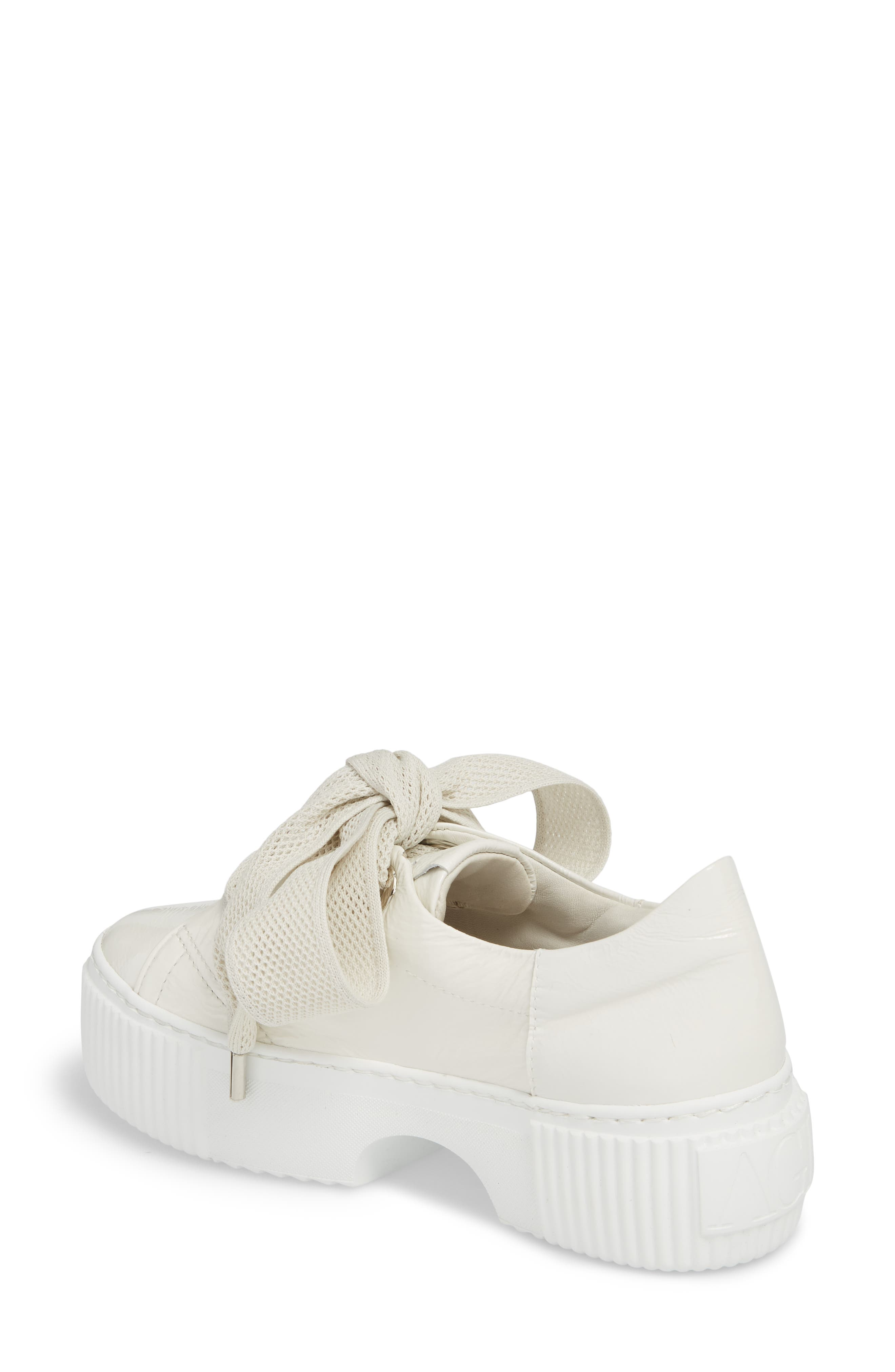 Platform Sneaker,                             Alternate thumbnail 2, color,                             WHITE GLAMMY LEATHER