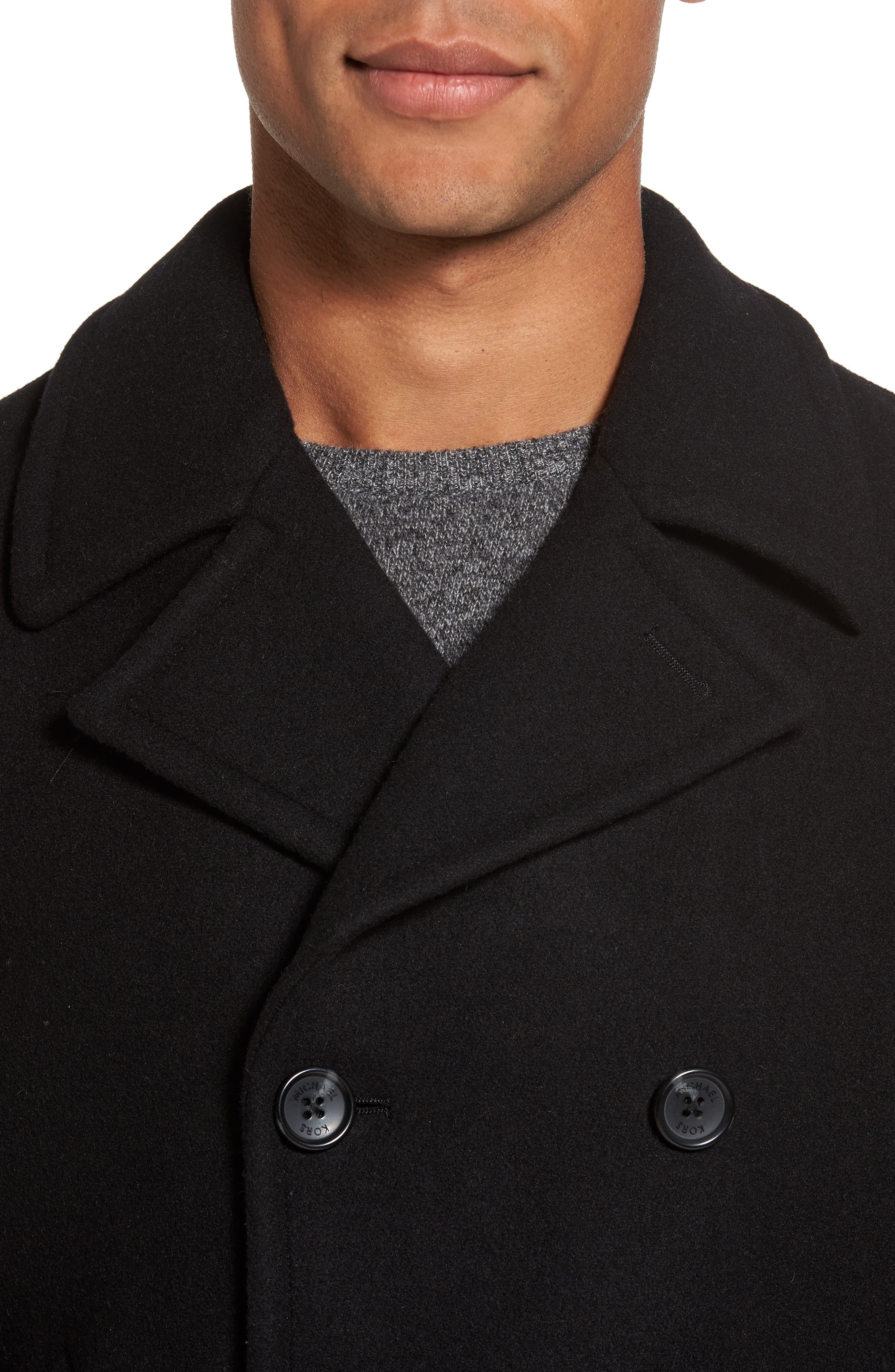 Wool Blend Double Breasted Peacoat,                             Alternate thumbnail 115, color,