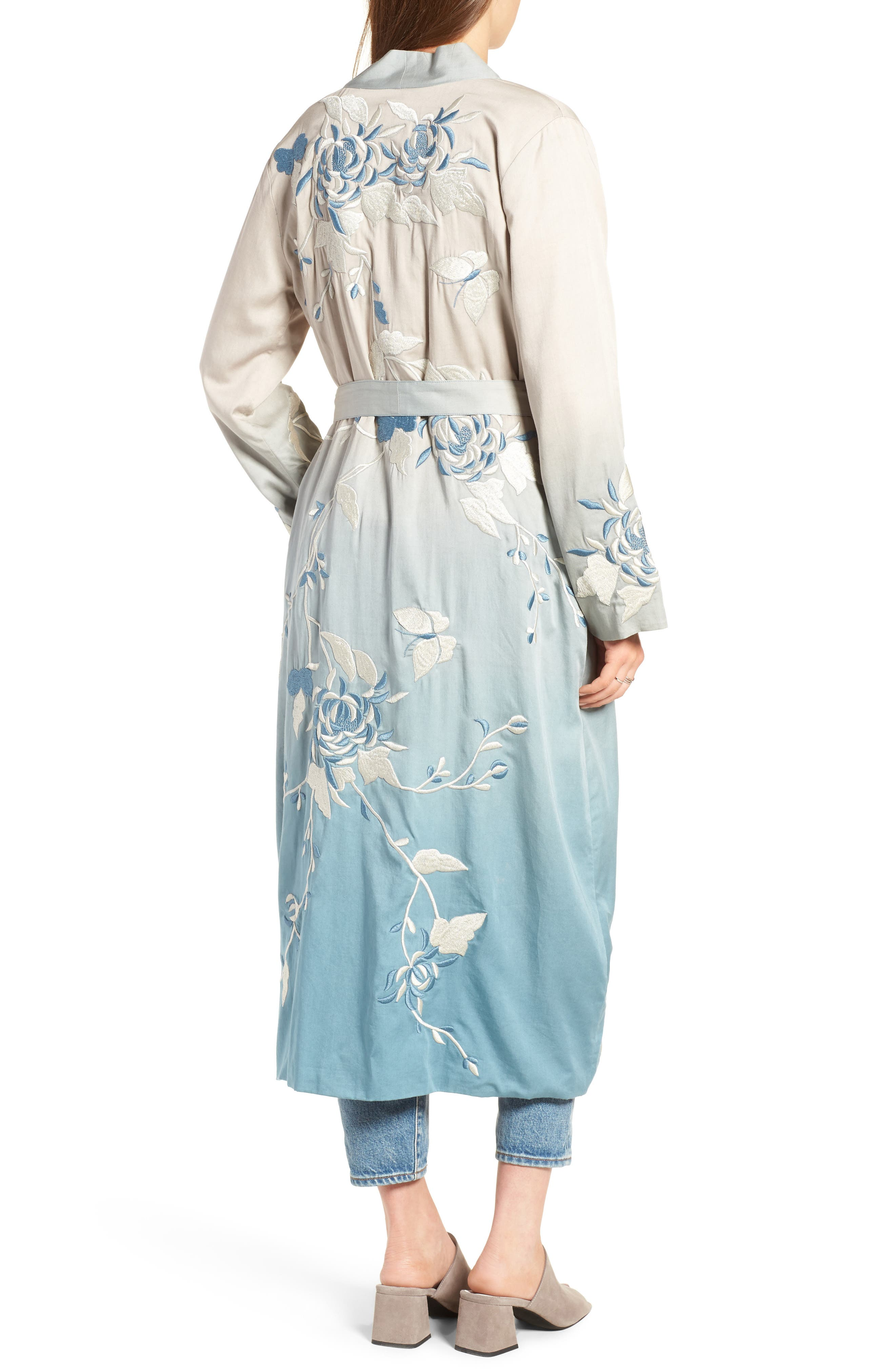 Silversage Embroidered Duster Jacket,                             Alternate thumbnail 2, color,                             475