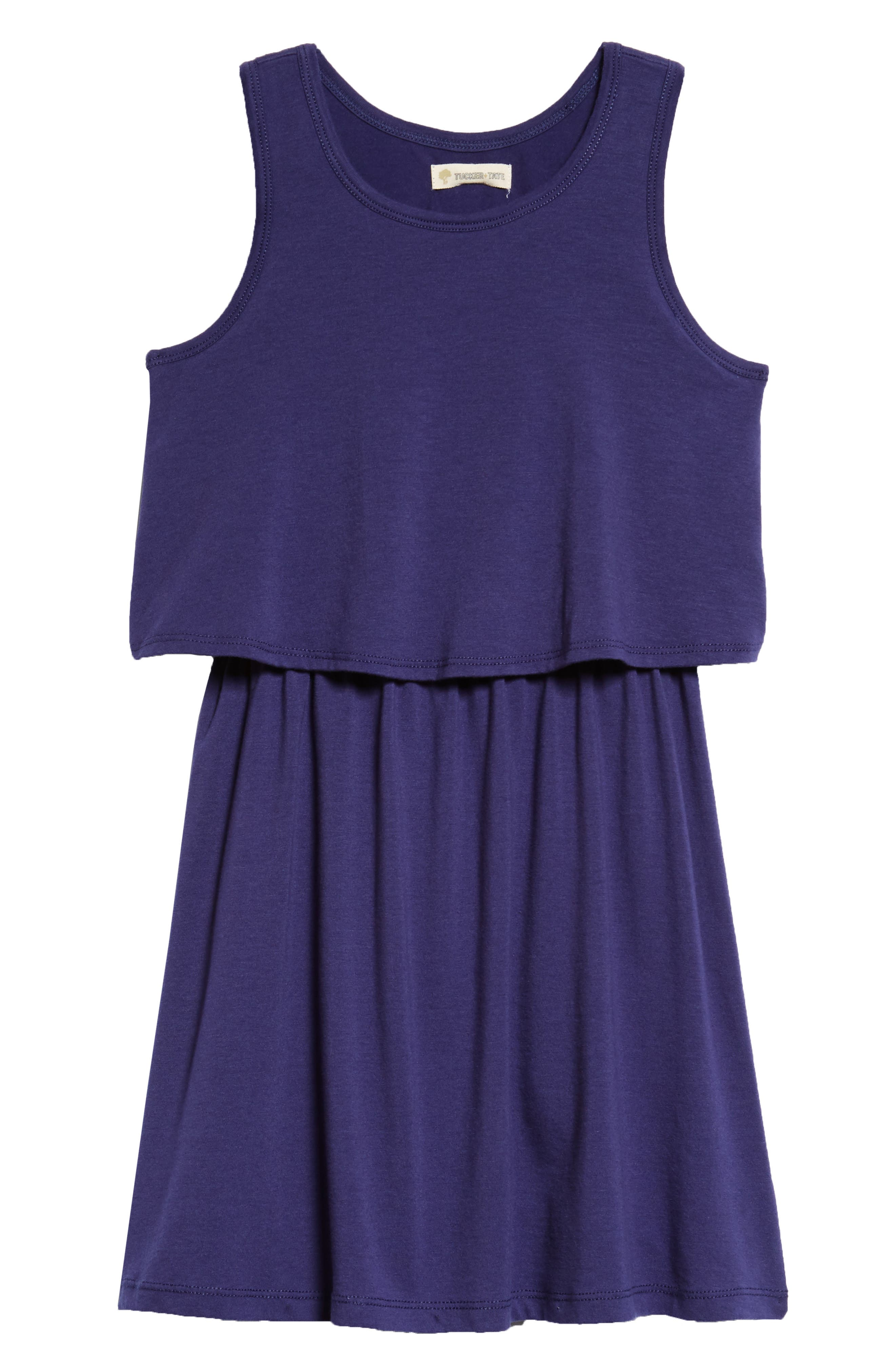Popover Knit Tank Dress,                         Main,                         color, 410