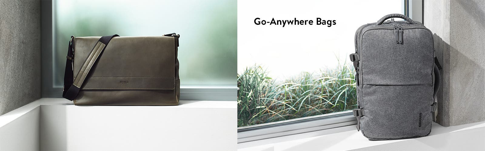 Go-anywhere bags.