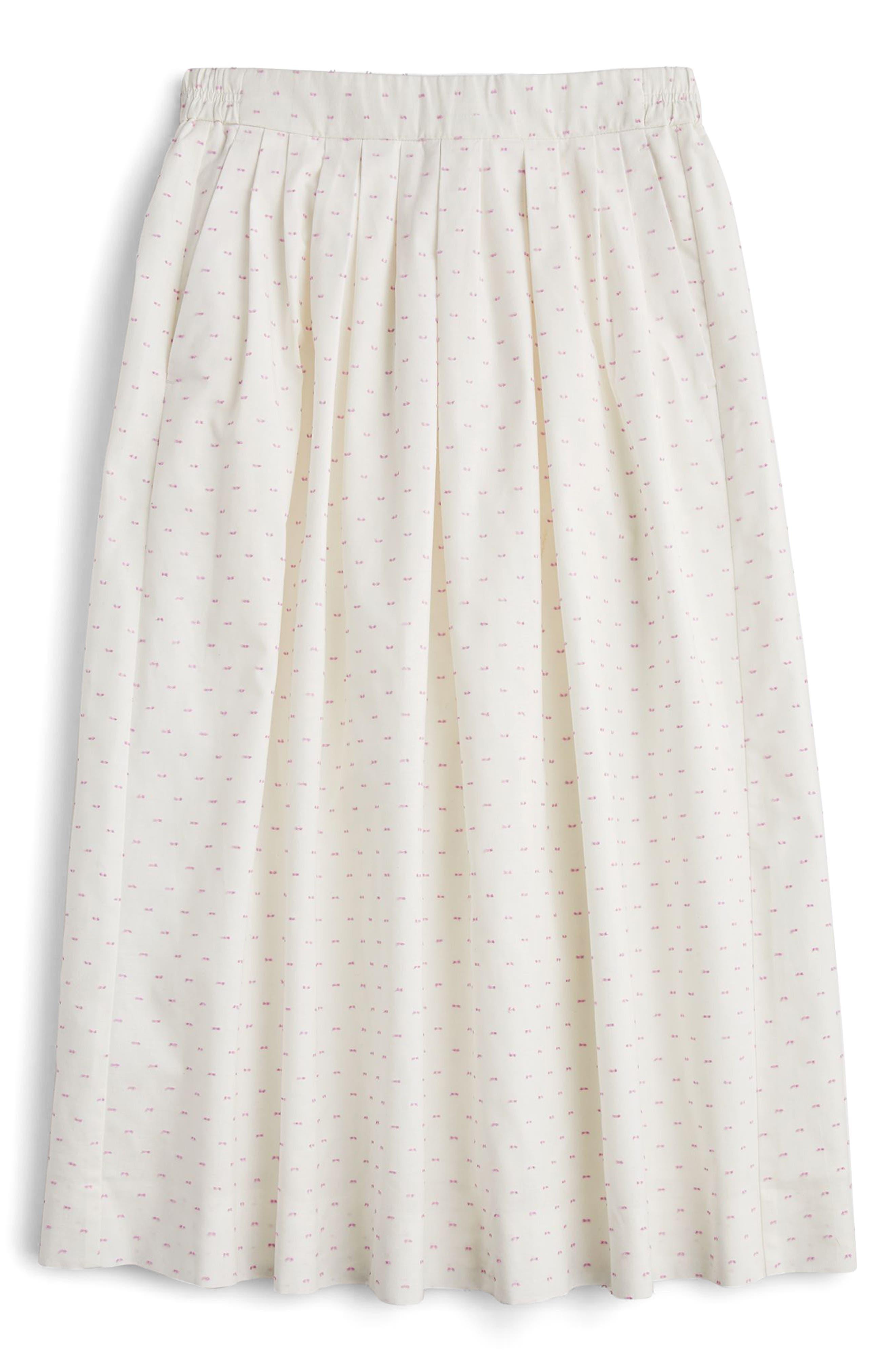 Vintage Clip Dot Midi Skirt,                             Main thumbnail 2, color,